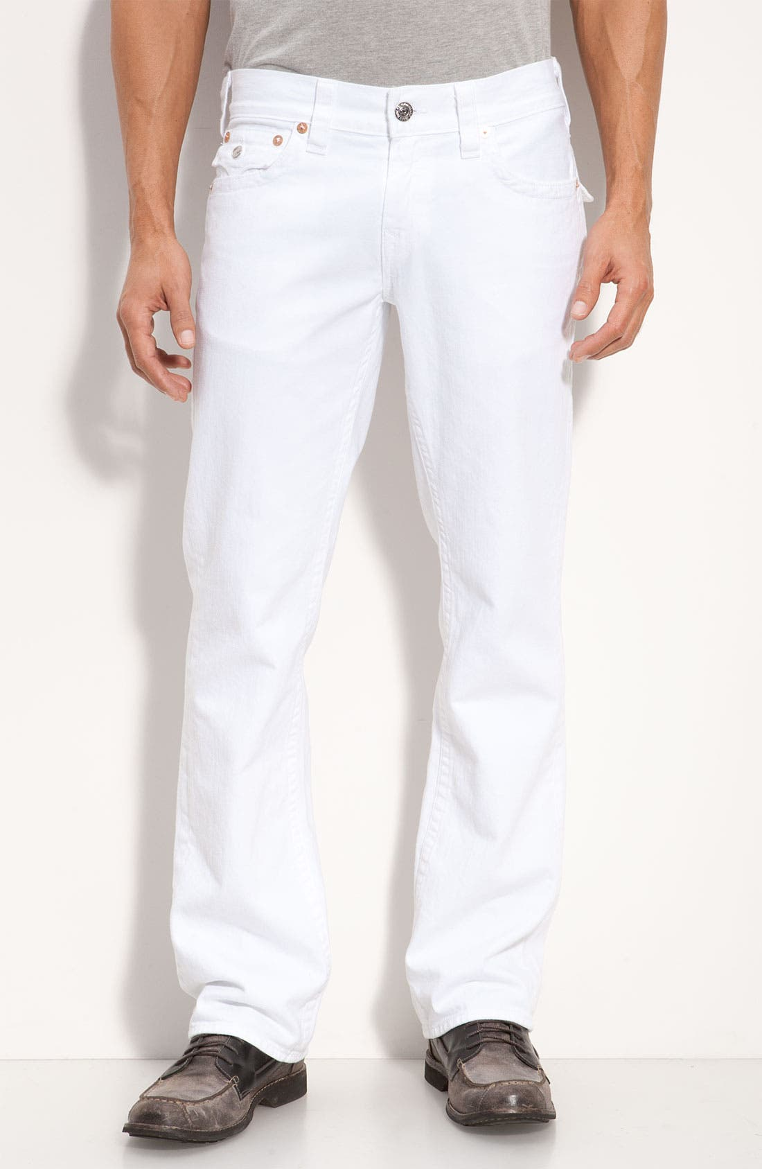 Alternate Image 2  - True Religion Brand Jeans 'Ricky' Relaxed Straight Leg Jeans (Optic Rinse)
