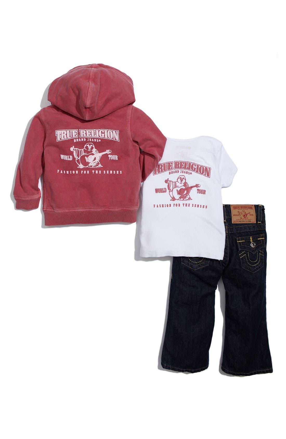 Alternate Image 2  - True Religion Brand Jeans 3-Piece Gift Set (Infant)