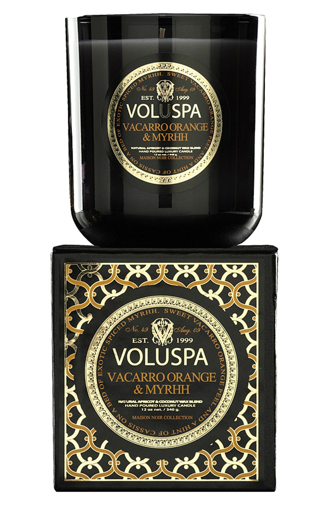 Main Image - Voluspa 'Maison Noir - Vacarro Orange & Myrhh' Scented Candle