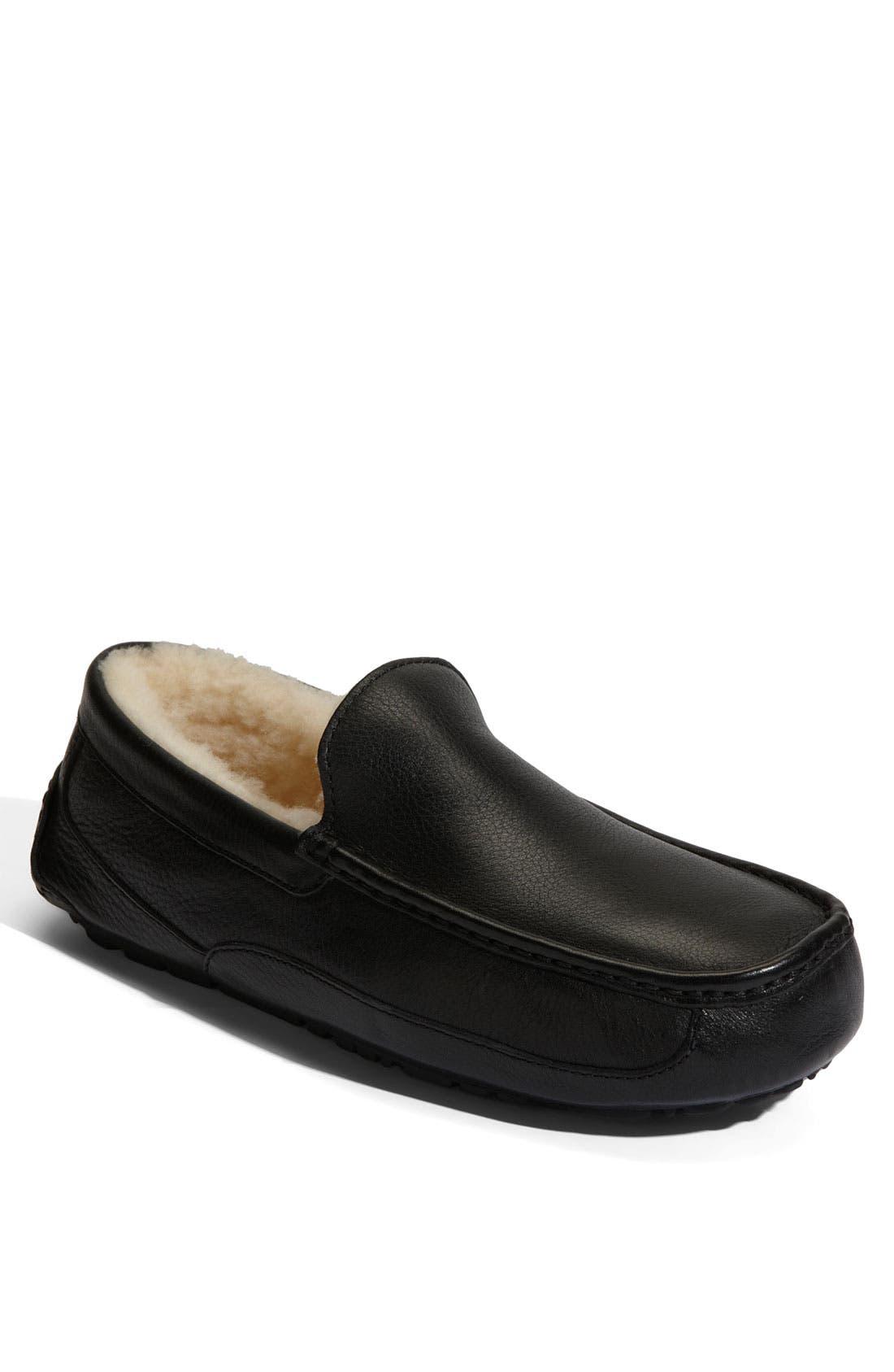 Alternate Image 1 Selected - UGG® Ascot Leather Slipper (Men)