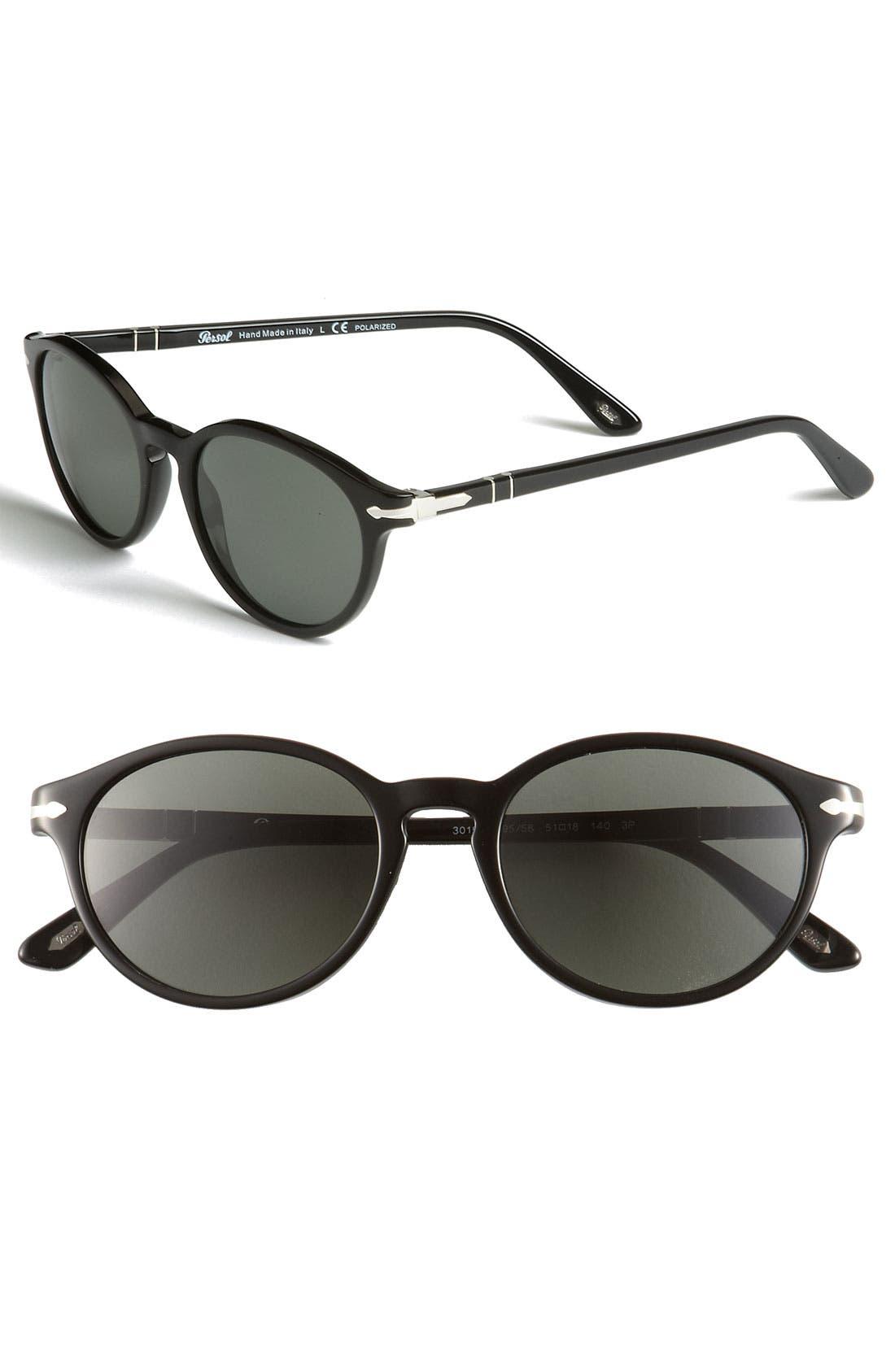 Main Image - Persol 51mm Polarized Keyhole Sunglasses