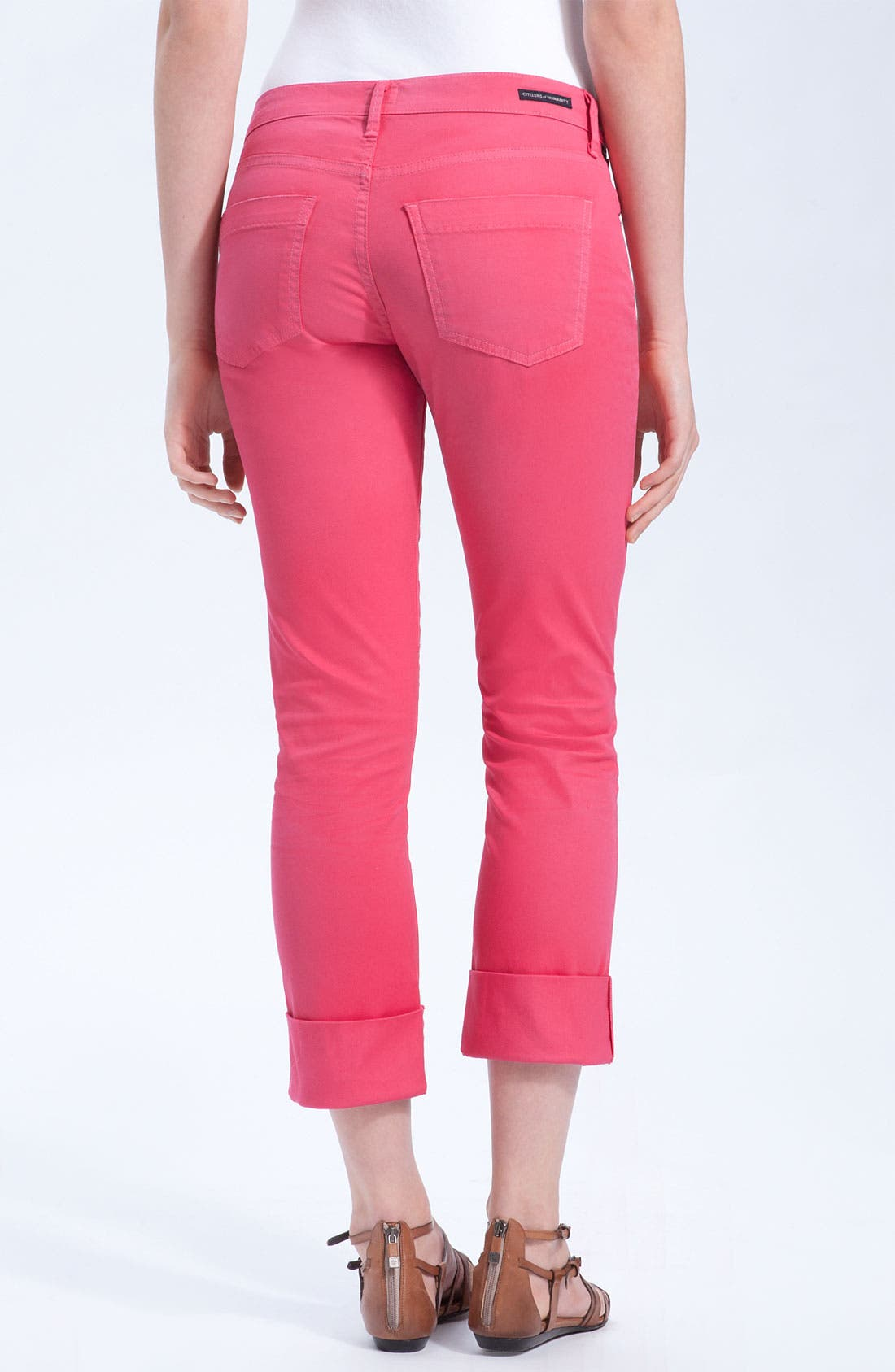 Alternate Image 1 Selected - Citizens of Humanity 'Dani' Colored Denim Skinny Leg Crop Jeans (Shocking Pink)