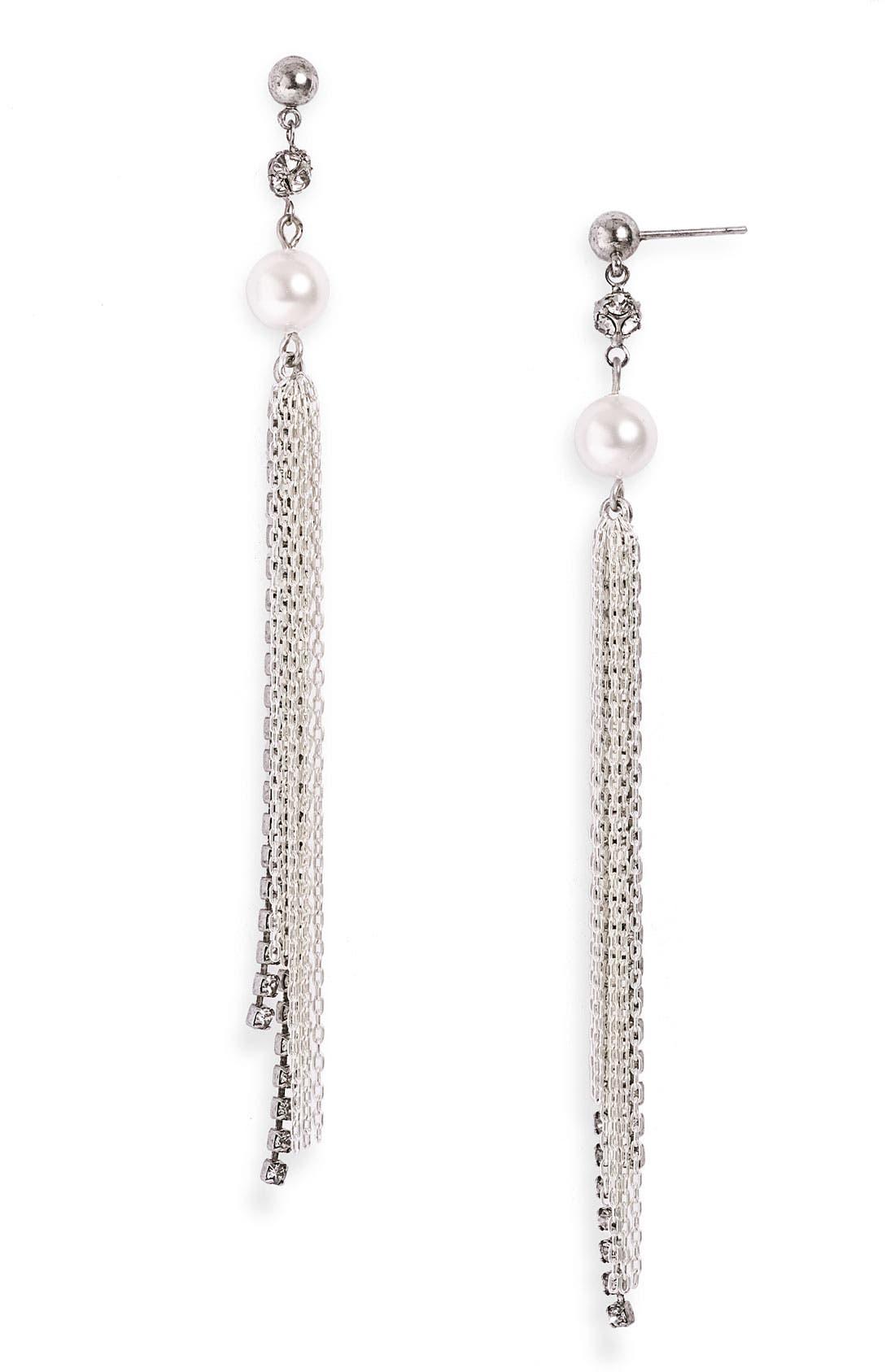 Alternate Image 1 Selected - Tom Binns 'Pearls in Peril' Long Drop Earrings