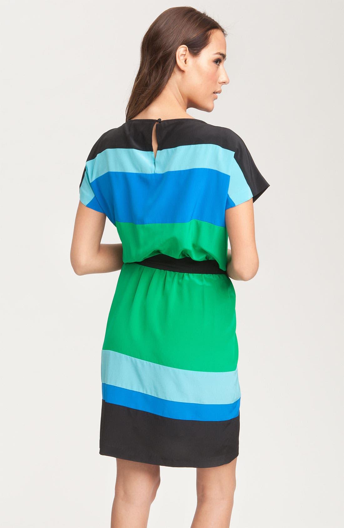 Alternate Image 2  - Donna Morgan Colorblock Silk Crêpe de Chine Dress