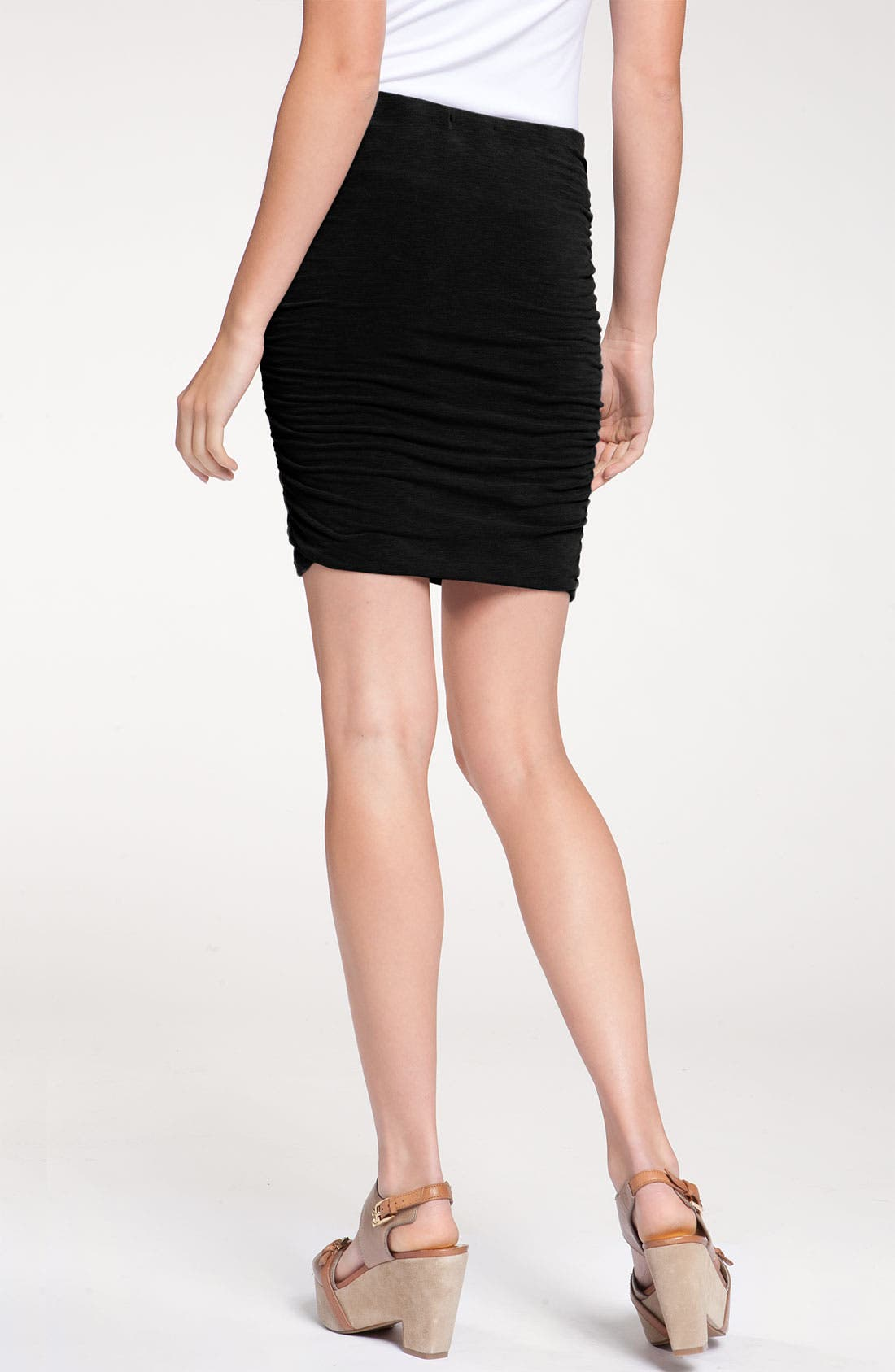 Alternate Image 2  - James Perse Fitted Ruched Miniskirt