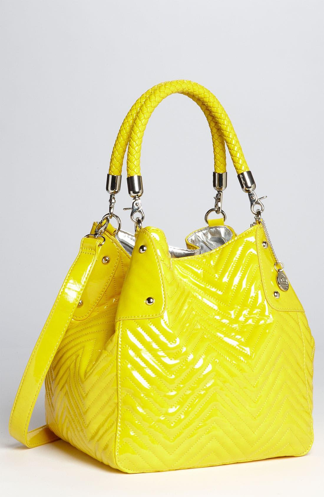Main Image - Big Buddha Patent Bucket Bag