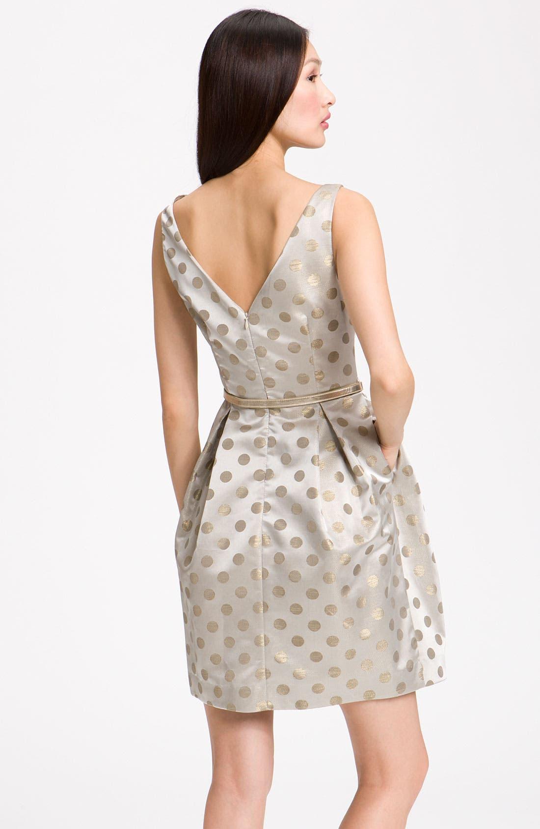 Alternate Image 2  - Eliza J Belted Satin Dress