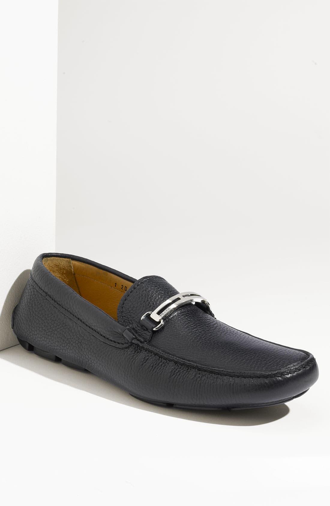Main Image - Prada Driving Shoe (Men) (Nordstrom Exclusive)