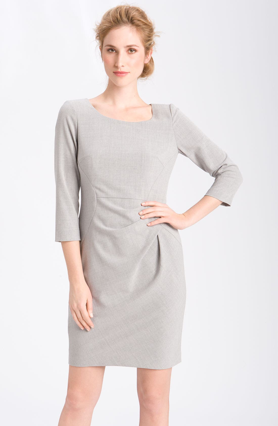 Alternate Image 1 Selected - Calvin Klein 'Stretch Luxe' Seamed Sheath Dress