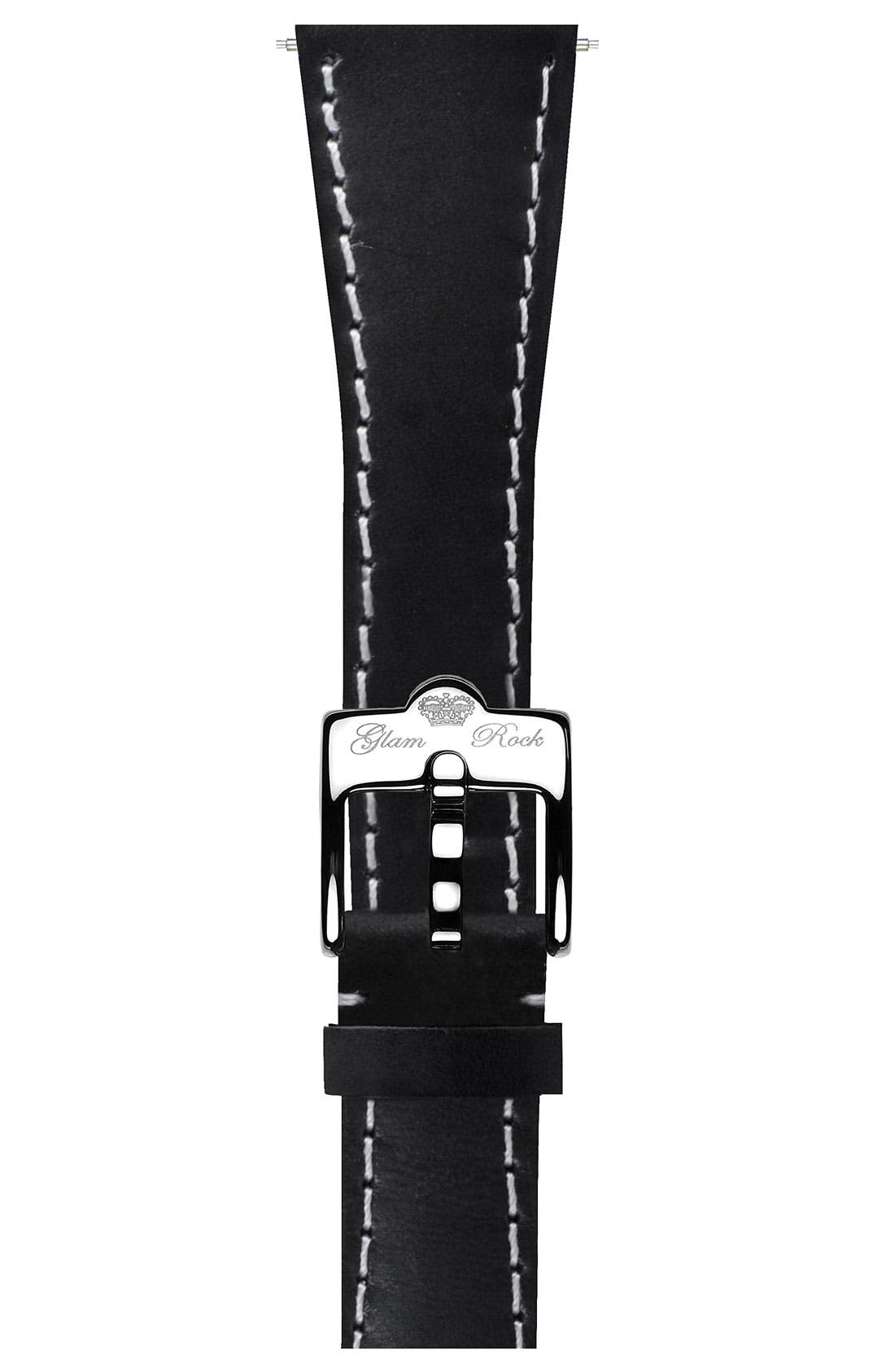 Alternate Image 1 Selected - Glam Rock 20mm Leather Strap