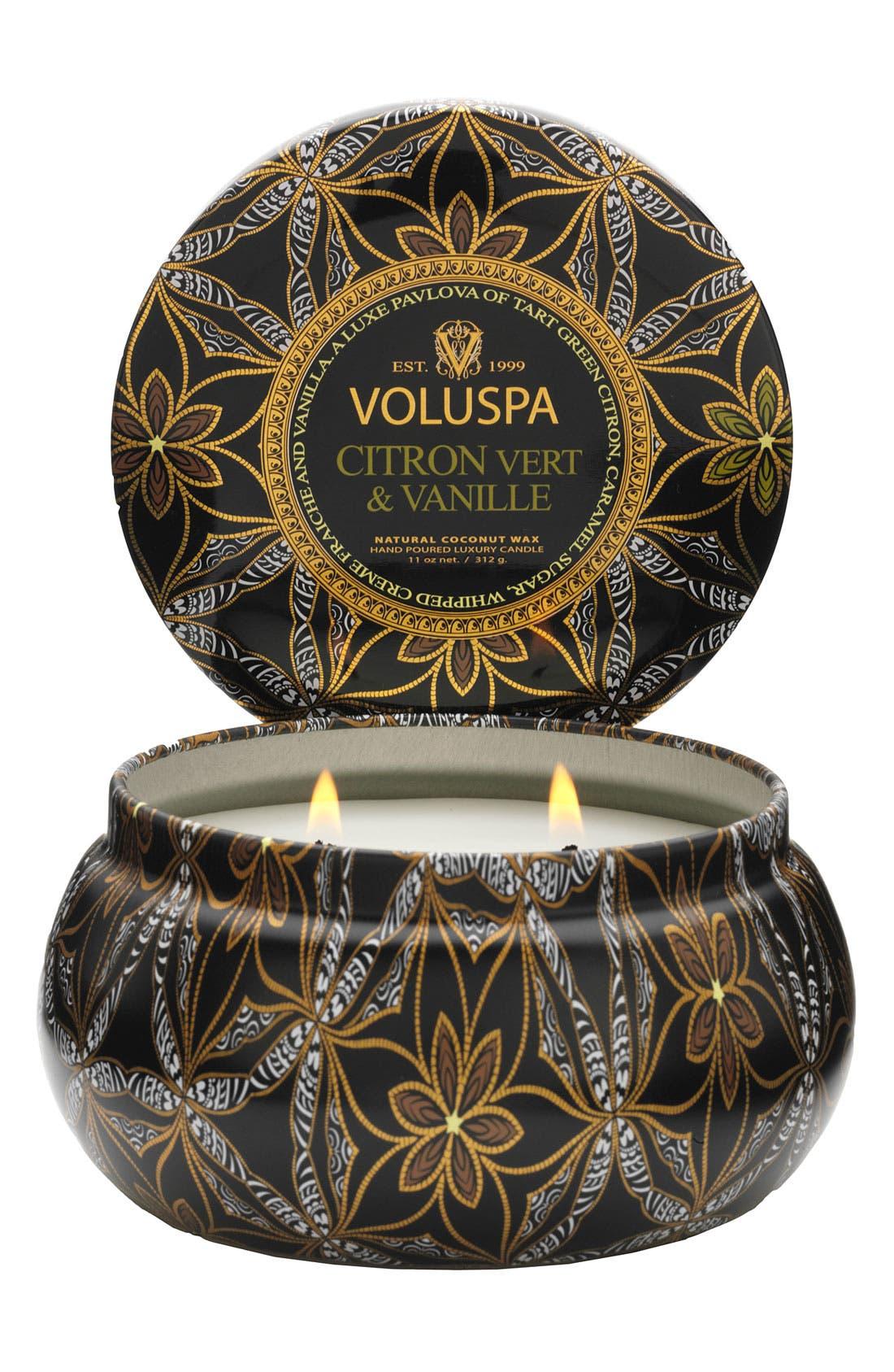 Alternate Image 1 Selected - Voluspa 'Maison Metallo - Citron Vert & Vanille' 2-Wick Candle