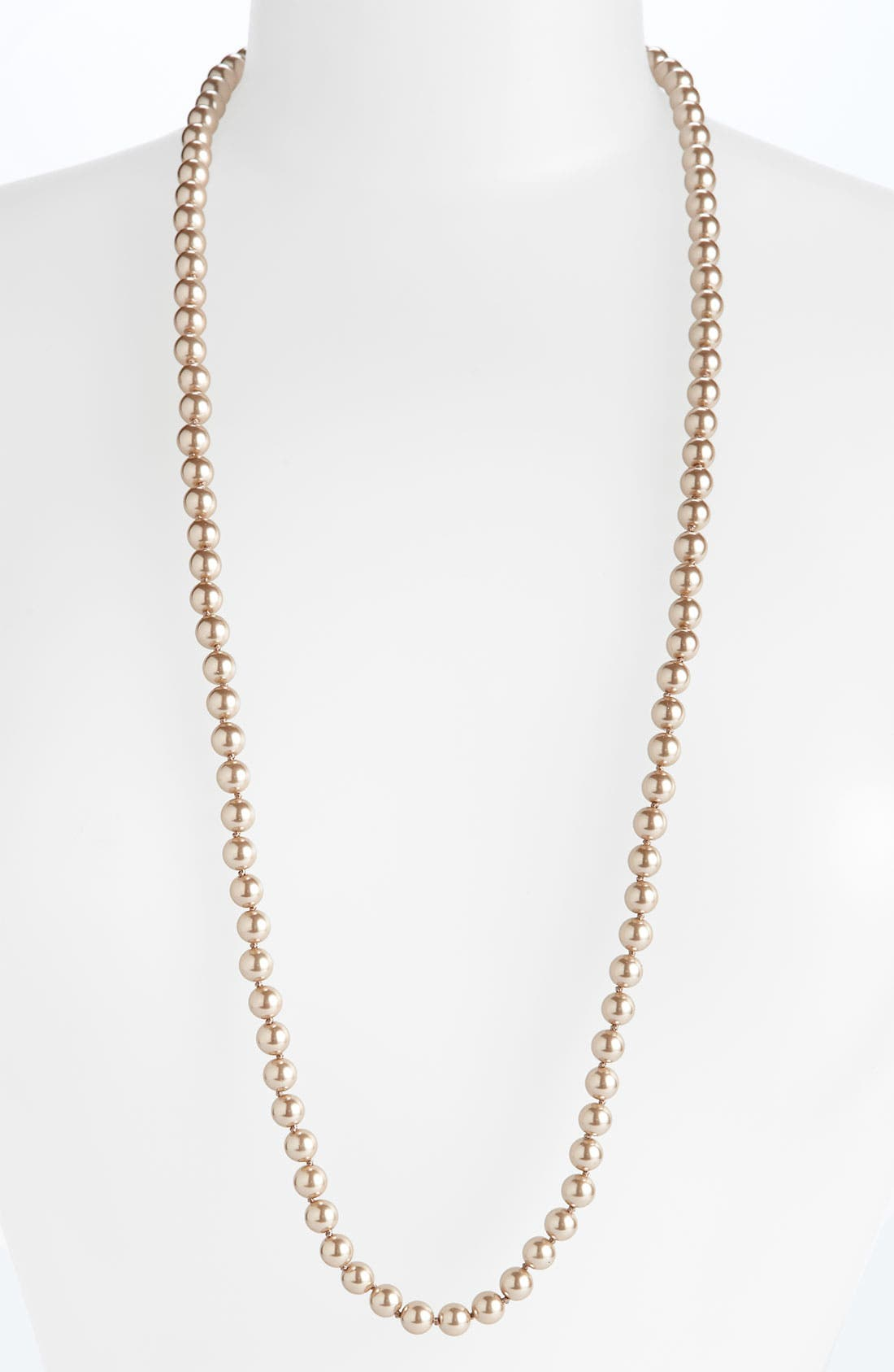 Alternate Image 1 Selected - Givenchy Long Glass Pearl Necklace