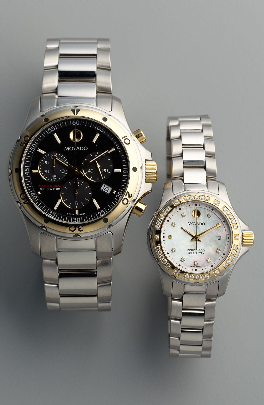Alternate Image 2  - Movado 'Series 800' Two Tone Diamond Bracelet Watch, 29mm