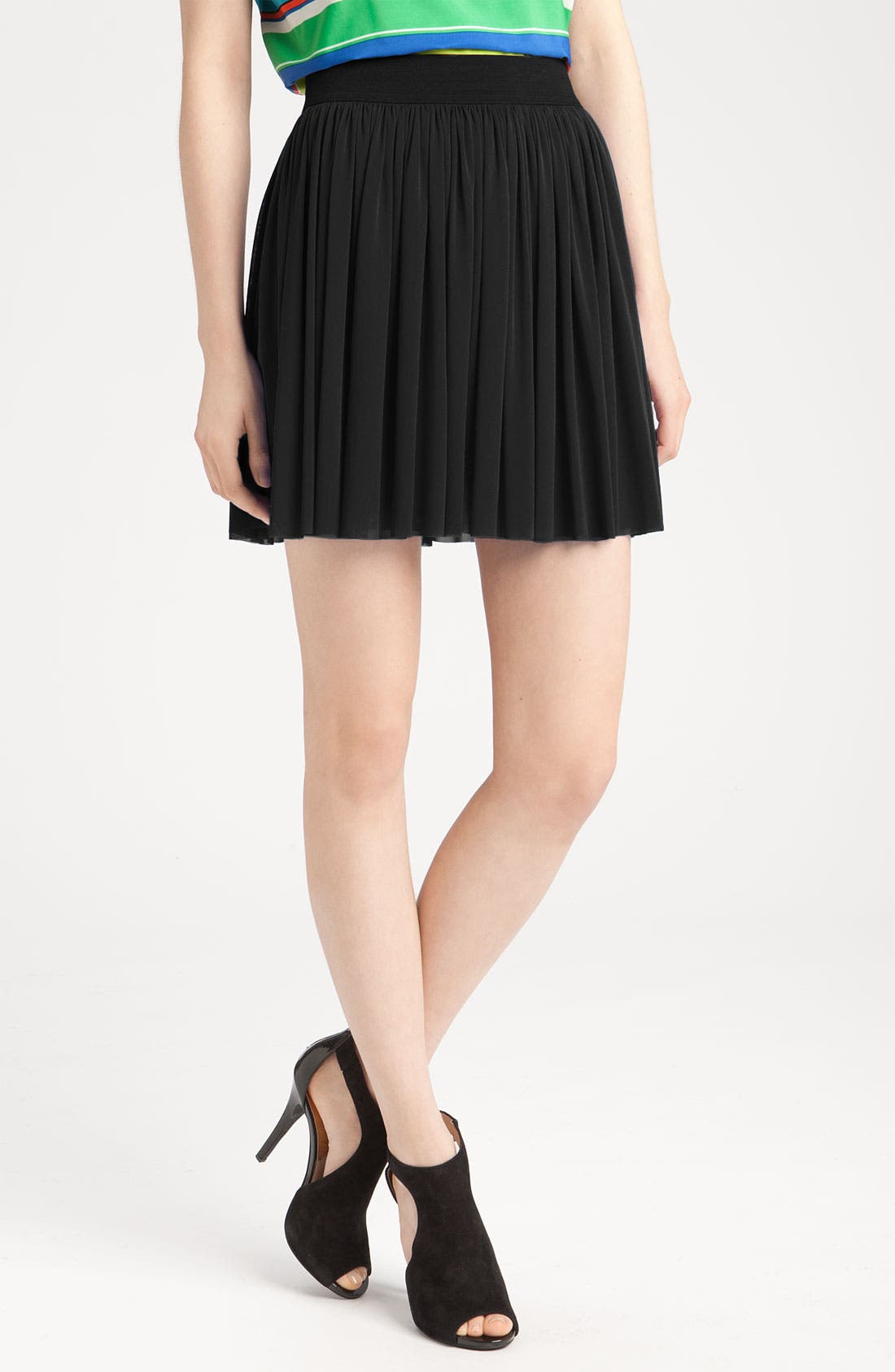 Alternate Image 1 Selected - Vince Camuto Mesh Skirt with Elastic Waistband