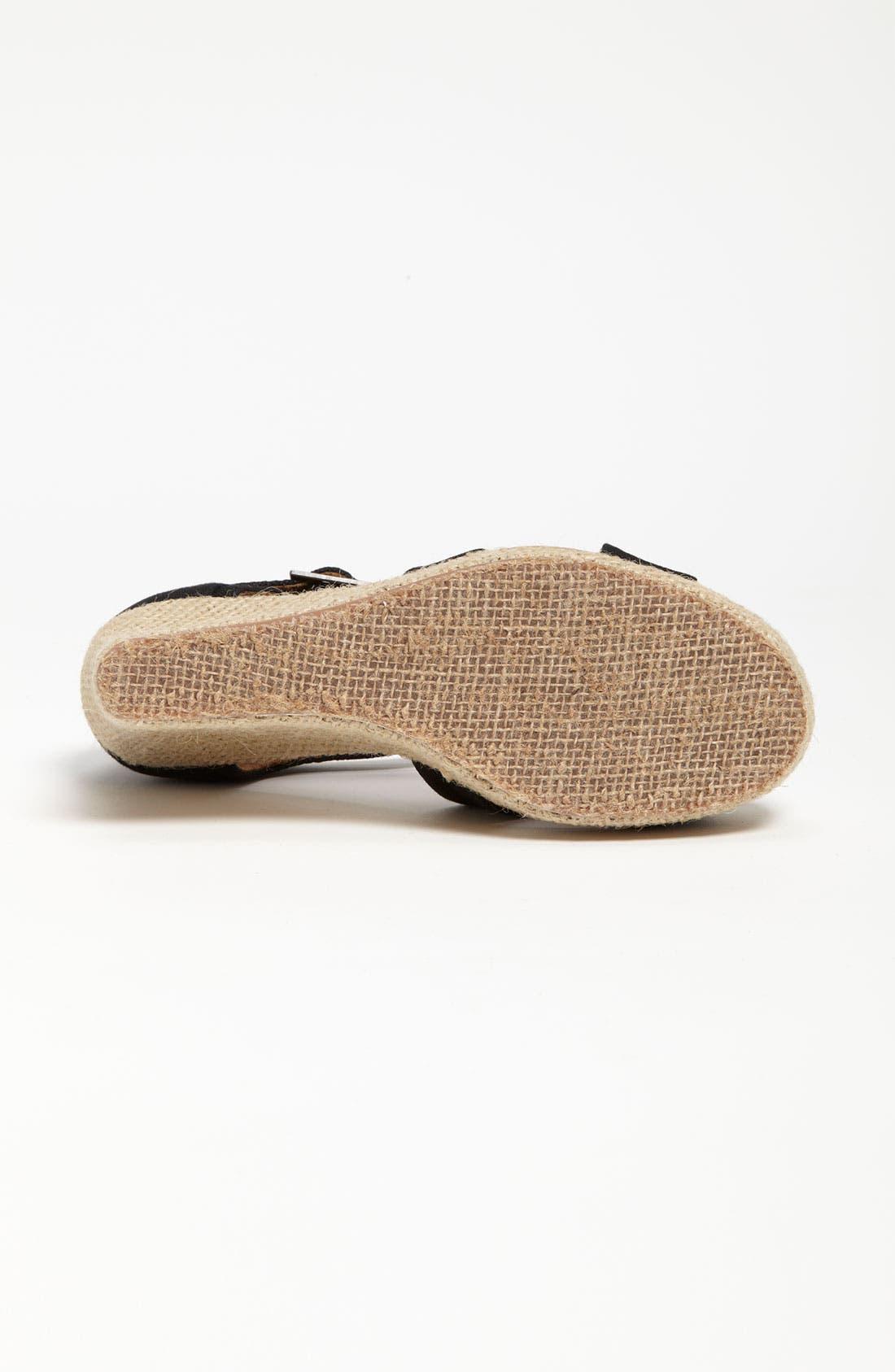 Alternate Image 4  - TOMS Canvas Wedge Sandal