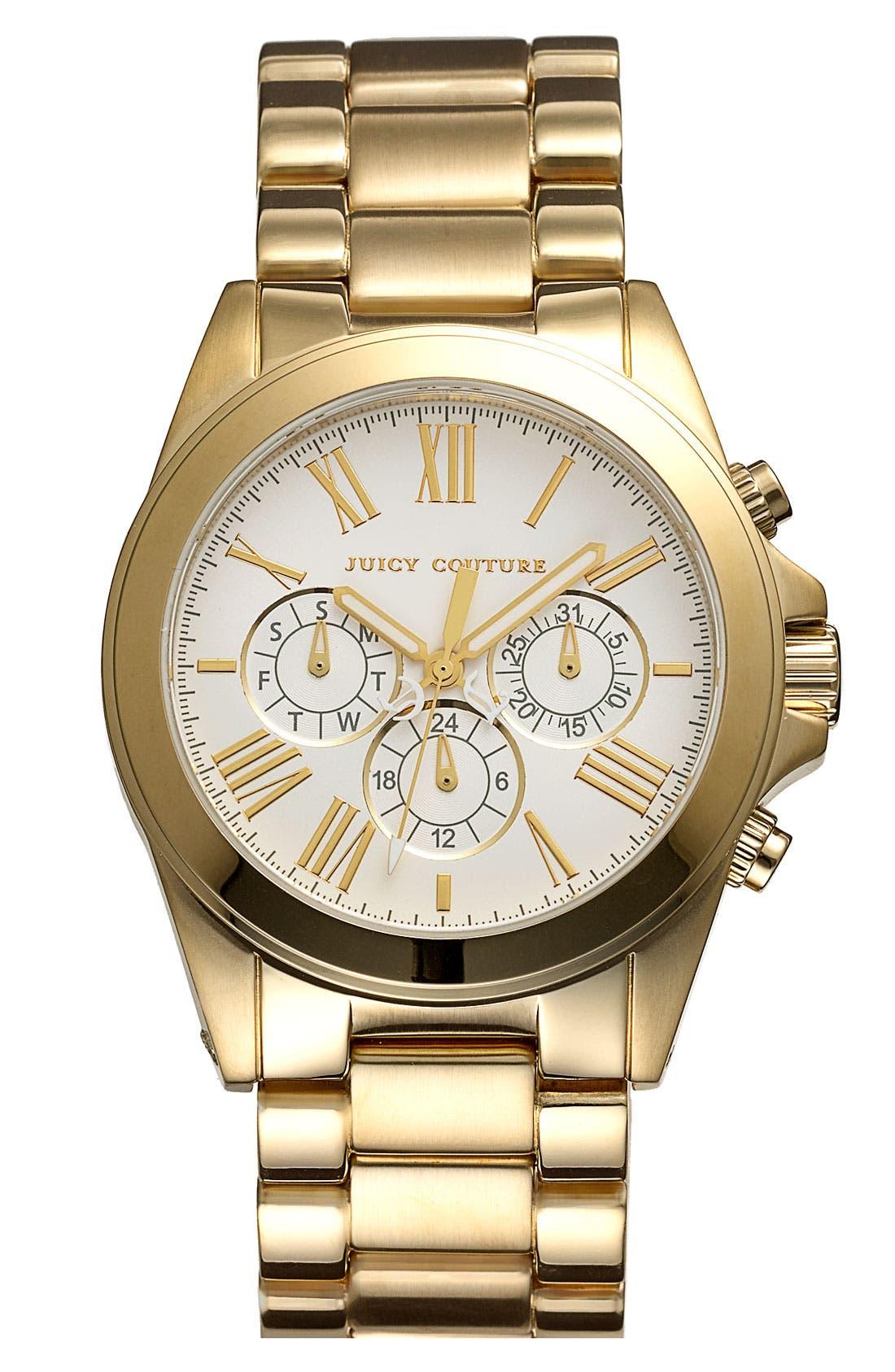 Alternate Image 1 Selected - Juicy Couture 'Stella' Multifunction Bracelet Watch