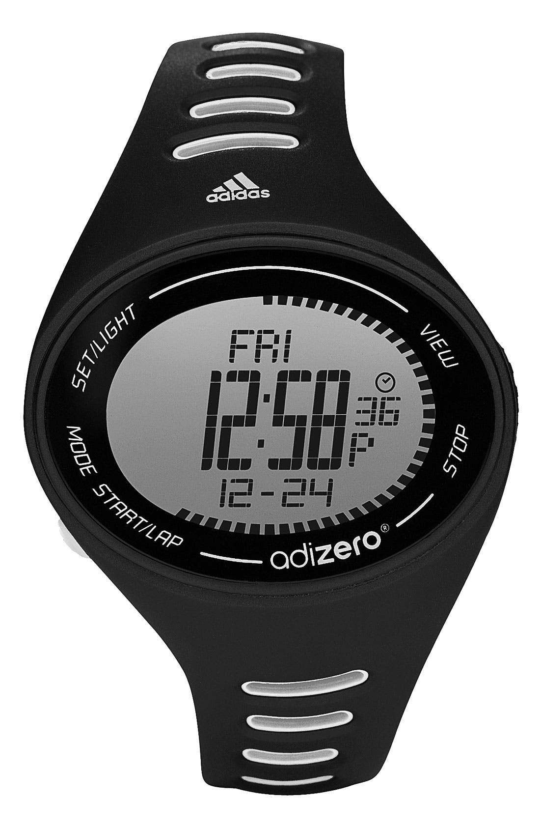 Alternate Image 1 Selected - adidas Performance 'adiZero' Digital Sport Watch, 49mm x 39mm