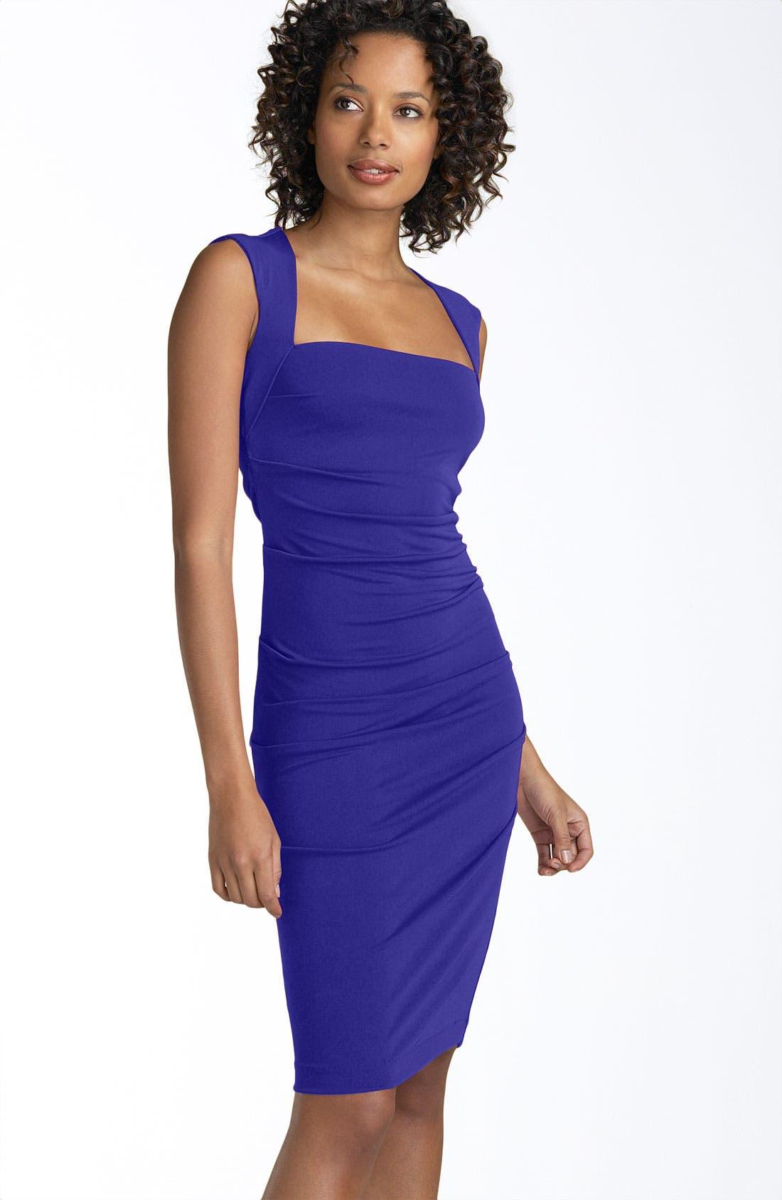 Alternate Image 1 Selected - Nicole Miller Open Back Jersey Sheath Dress