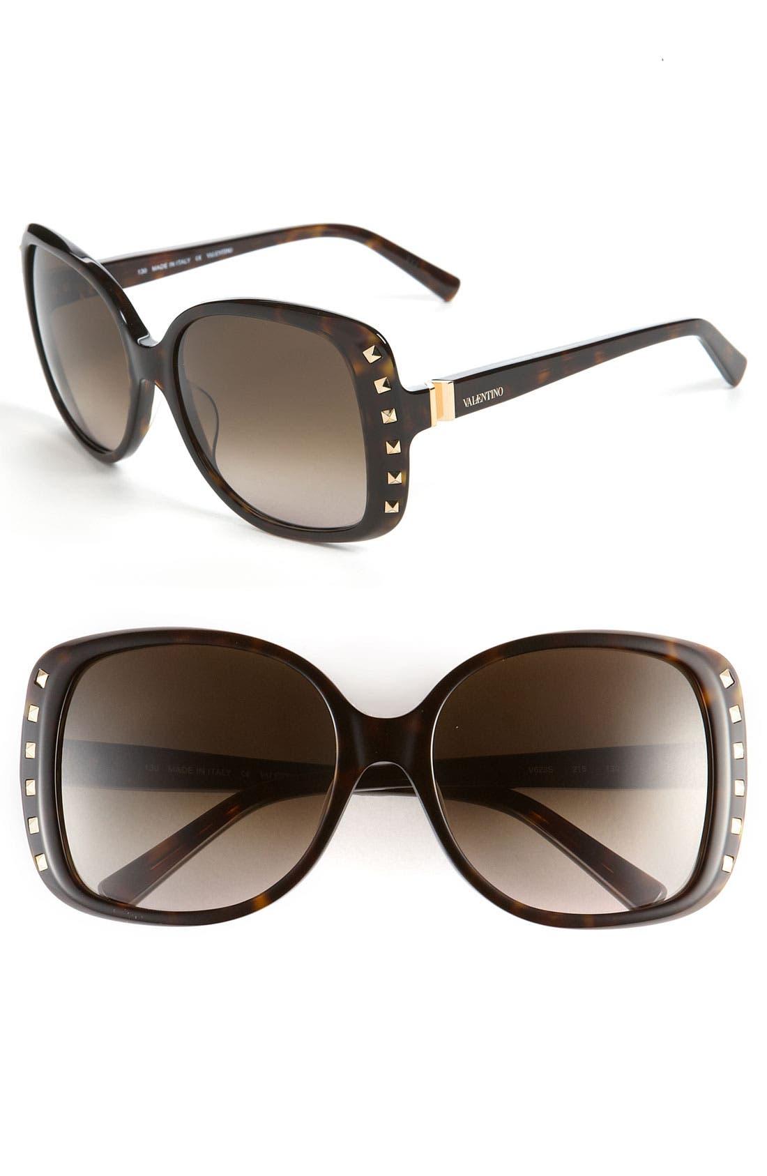 Alternate Image 1 Selected - Valentino 'Classic' Studded Sunglasses