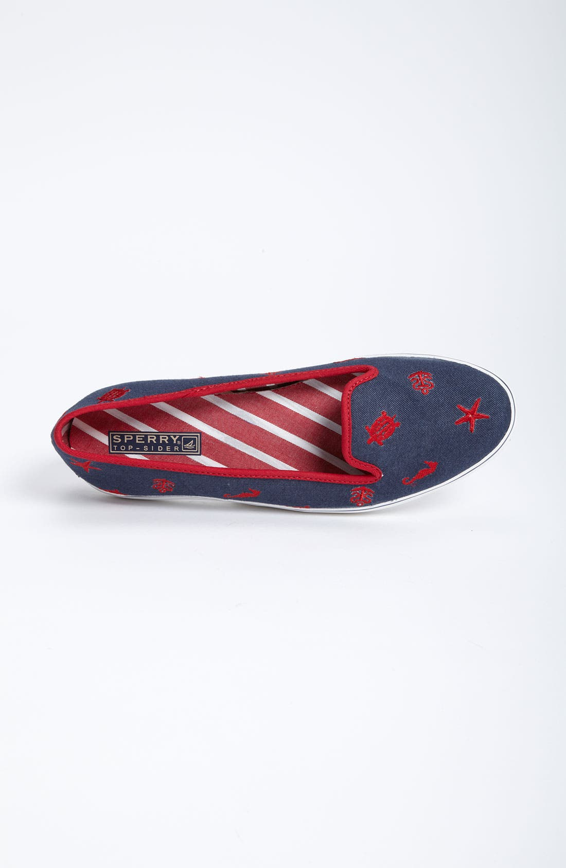 Top-Sider<sup>®</sup> 'Westport' Flat,                             Alternate thumbnail 3, color,                             Navy/ Red Critters