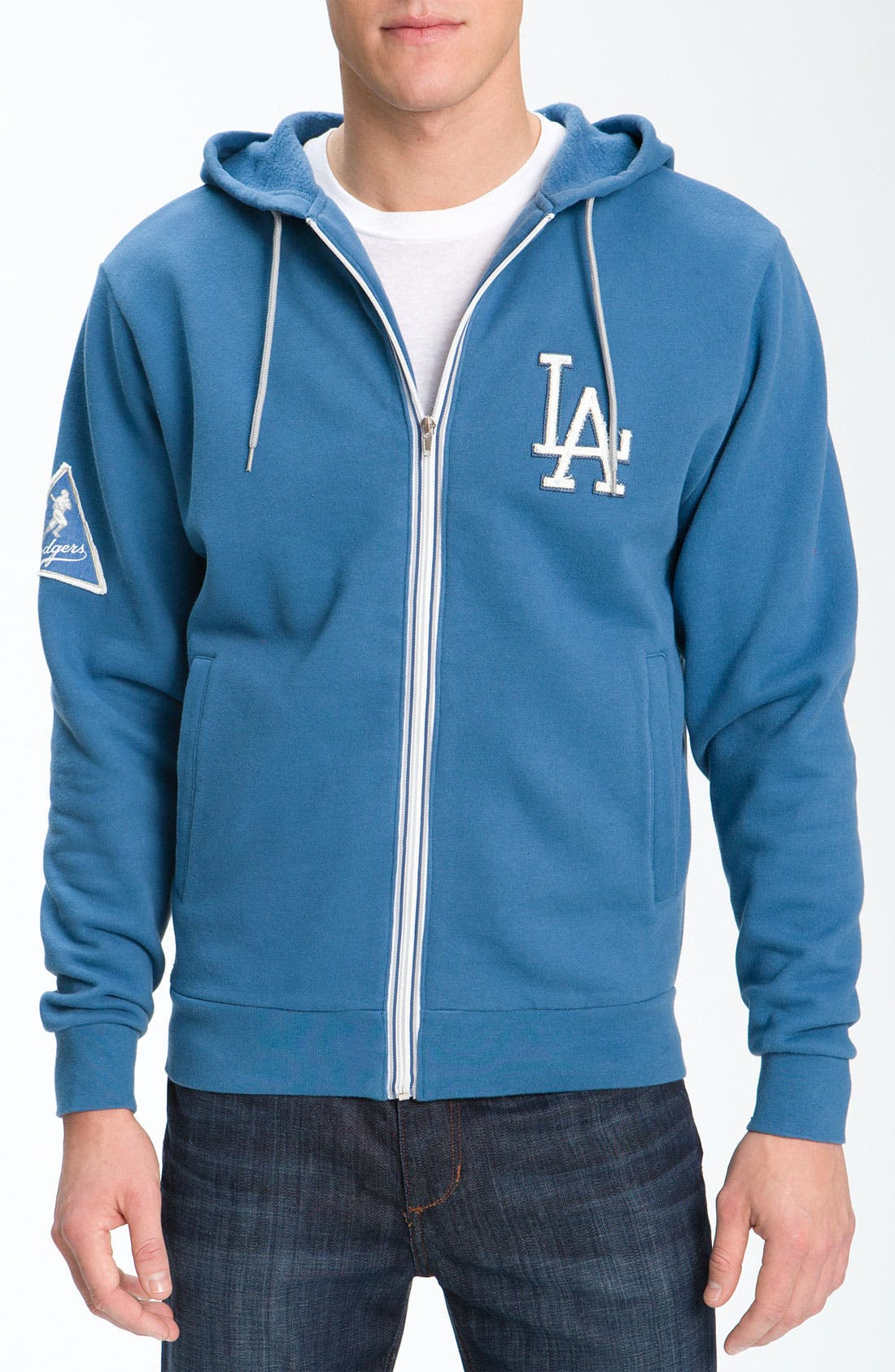 'Los Angeles Dodgers' Hoodie,                             Main thumbnail 1, color,                             Blue