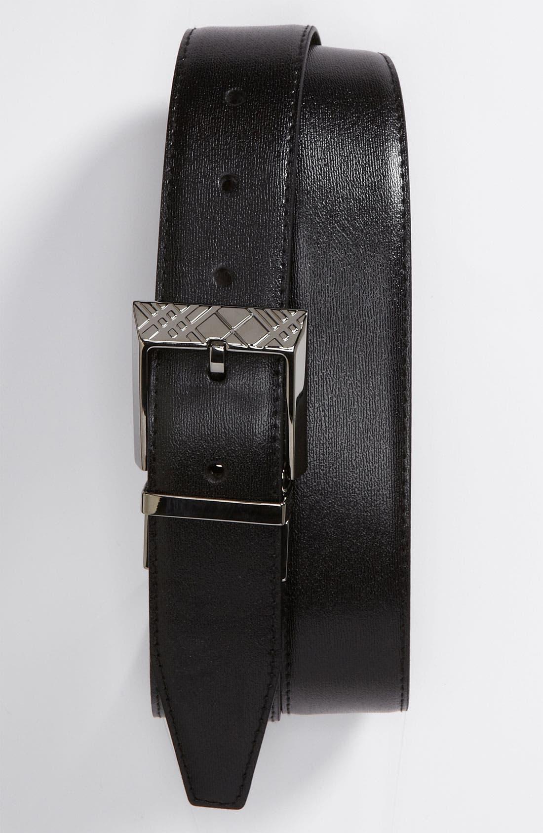 Alternate Image 1 Selected - Burberry Calfskin Belt