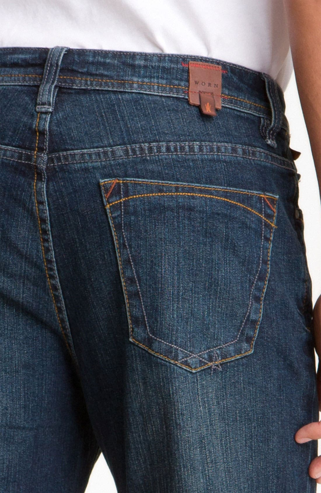 Alternate Image 3  - Worn Jeans 'Octane' Straight Leg Jeans (Clean Dark)