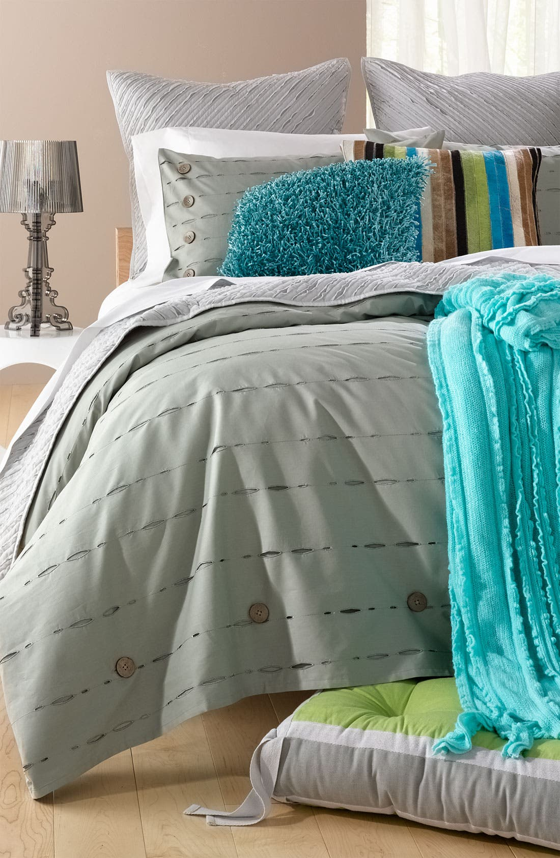 Alternate Image 2  - Nordstrom at Home 'Button Holes' Duvet Cover