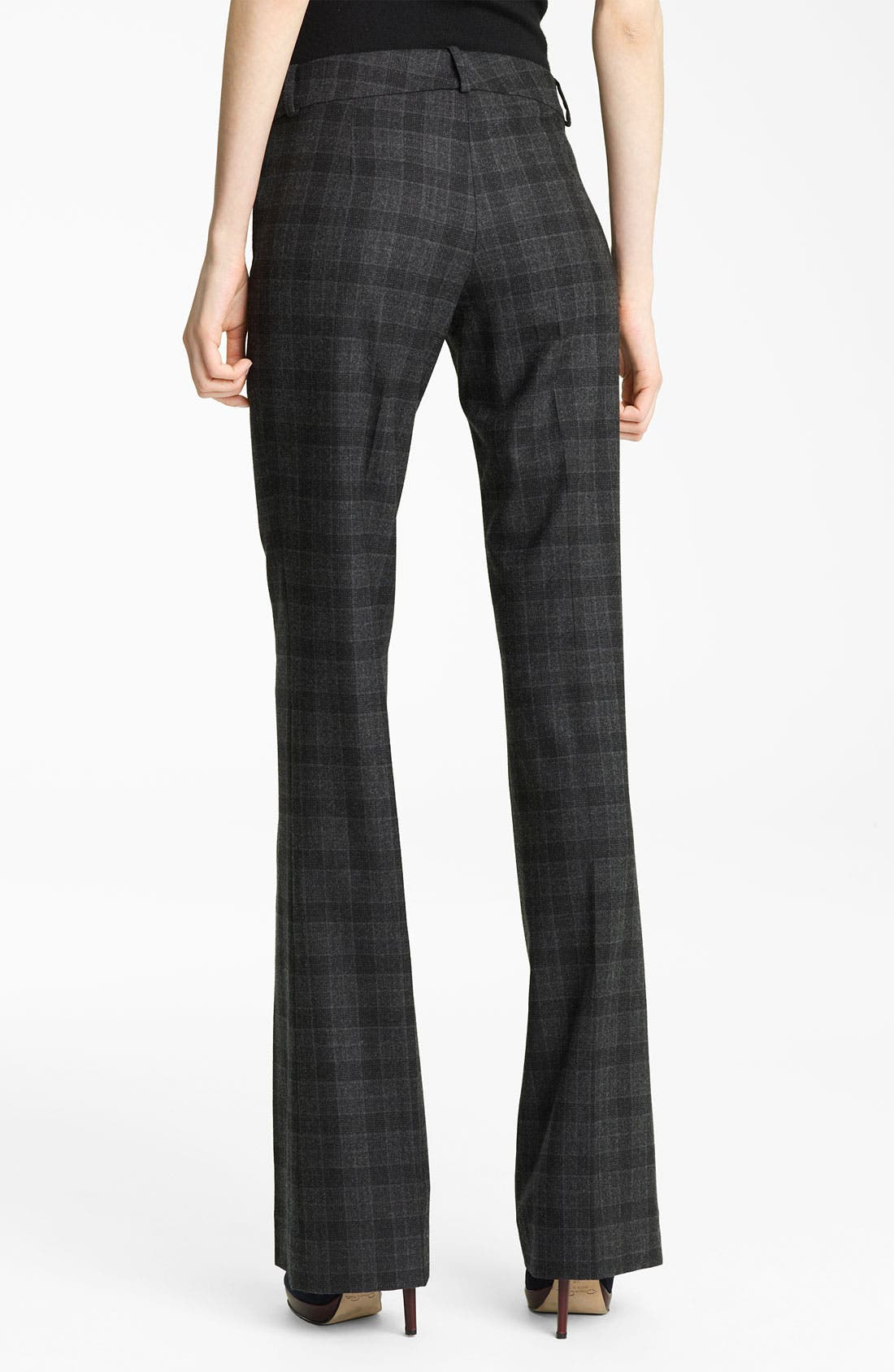 Alternate Image 2  - Oscar de la Renta Plaid Flannel Trousers