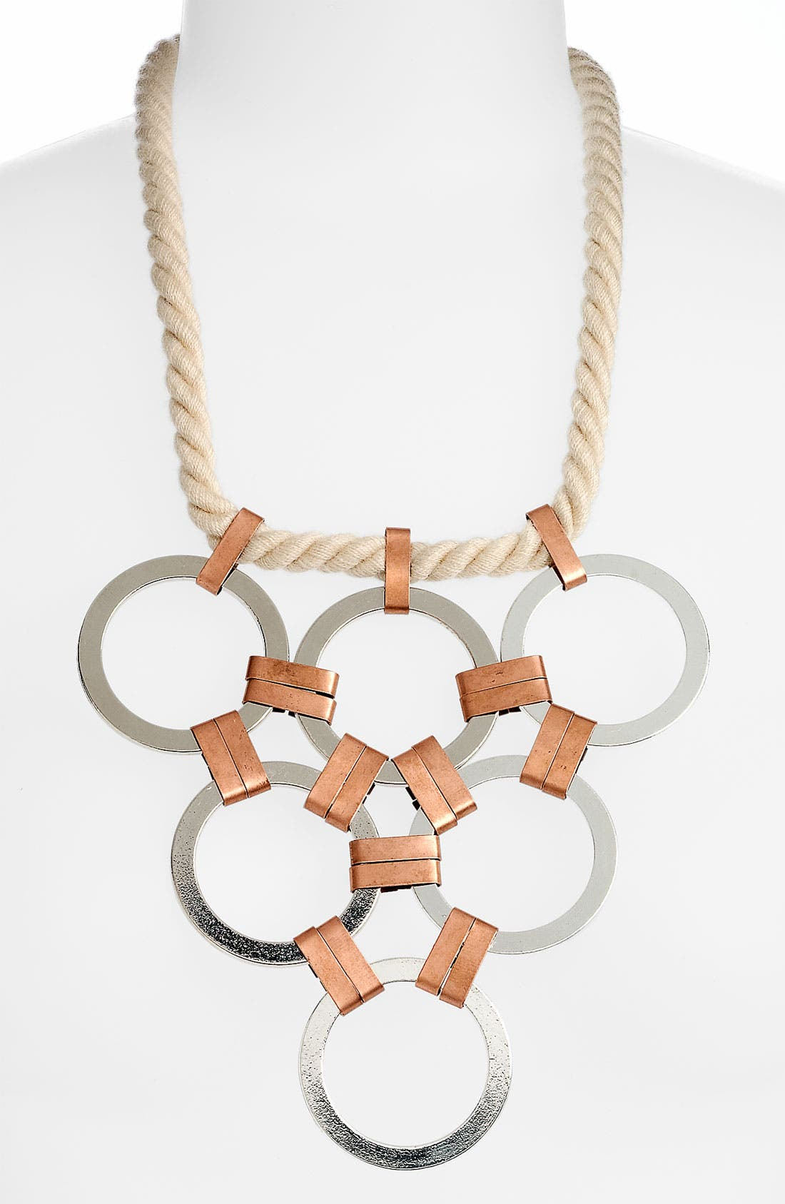 Alternate Image 1 Selected - Micha Design Triangle Bib Rope Necklace