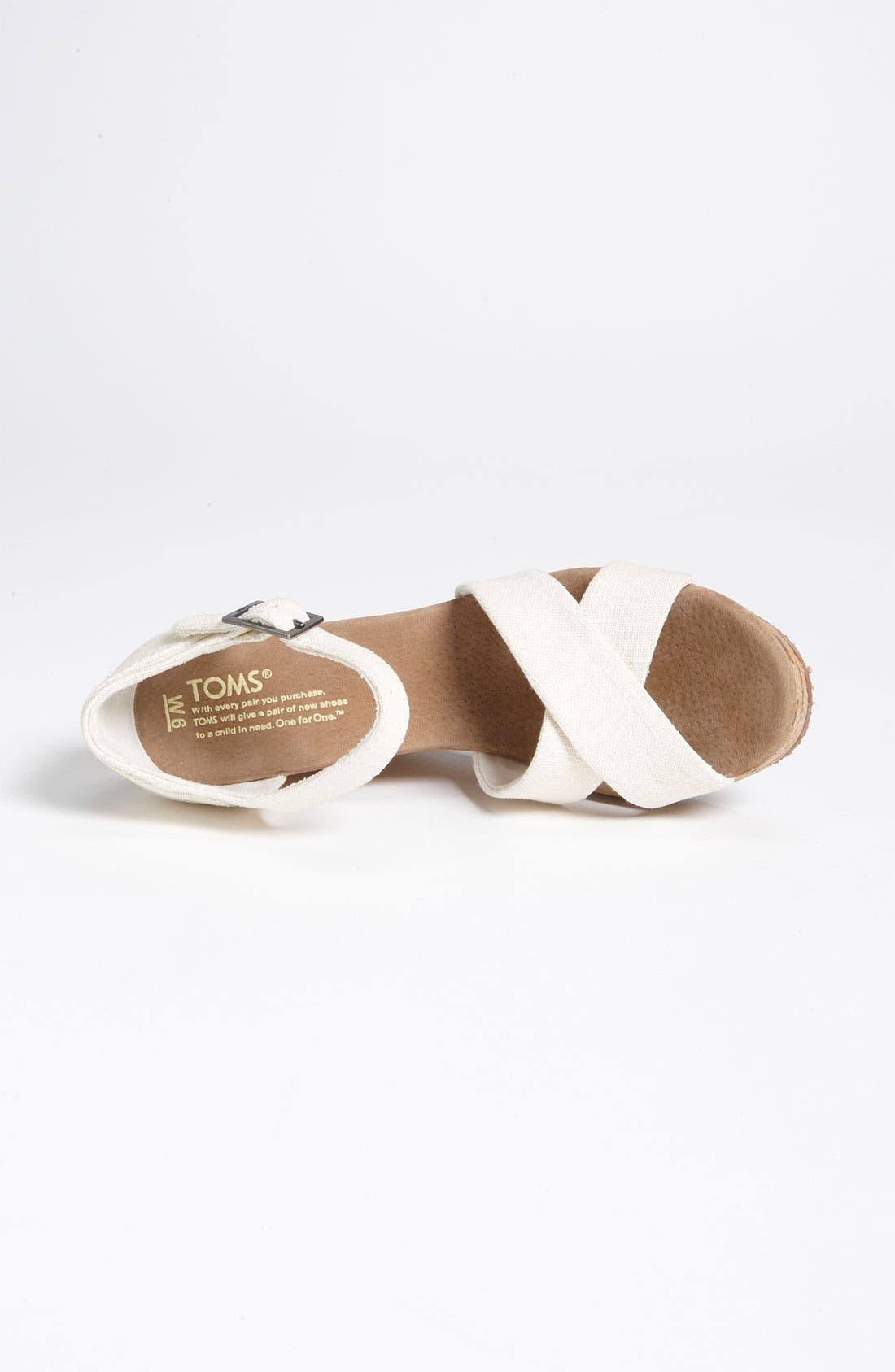 Alternate Image 3  - TOMS Linen Sandal