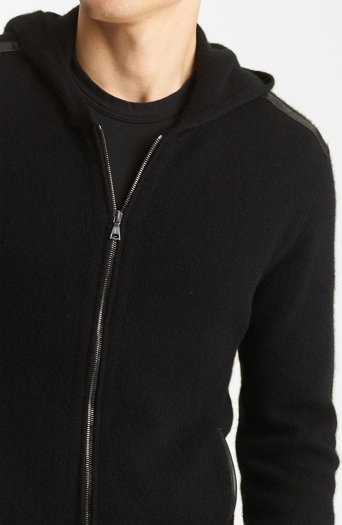 Alternate Image 3  - John Varvatos Collection Hooded Zip Cashmere Sweater