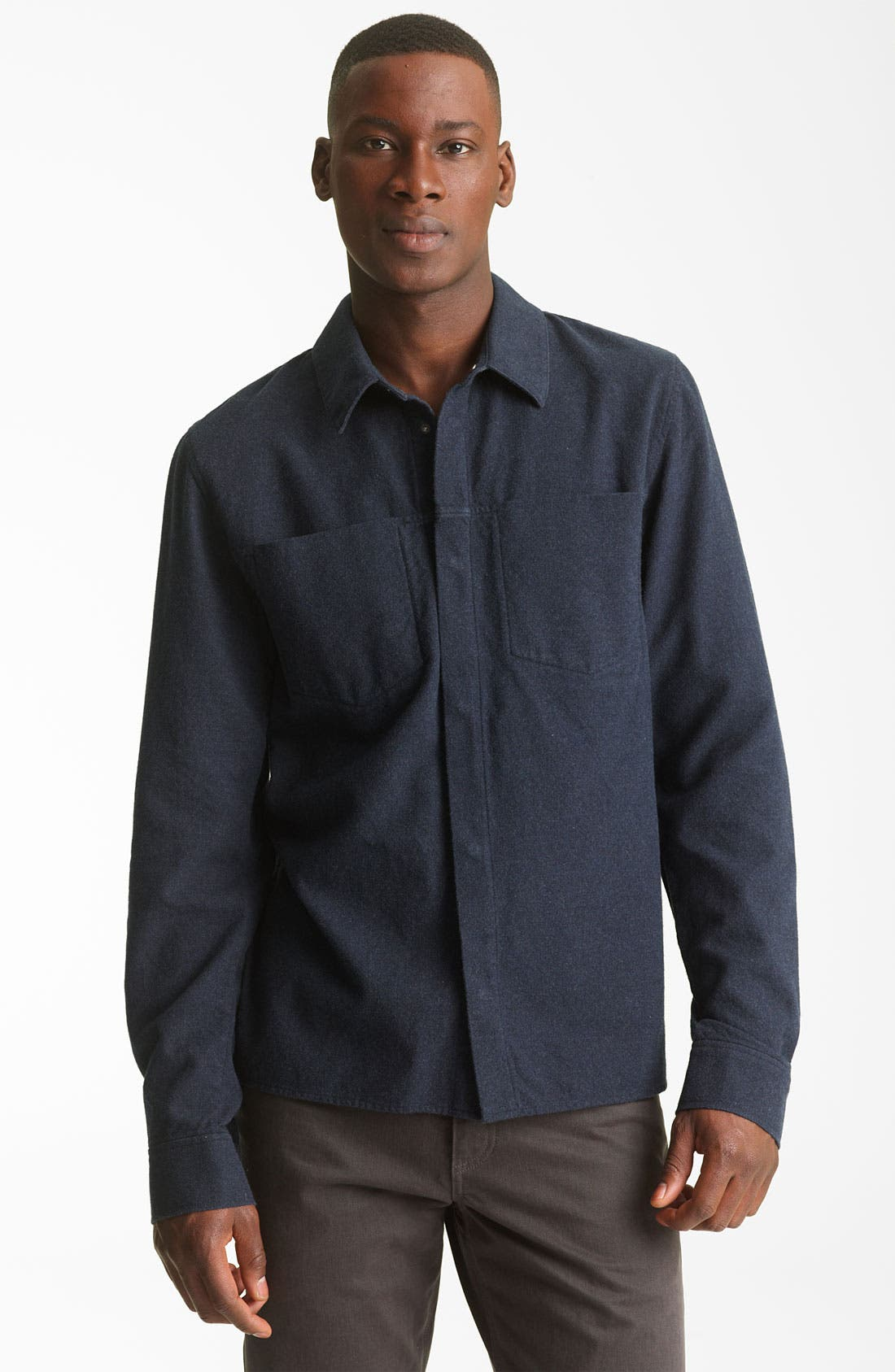 Alternate Image 1 Selected - T by Alexander Wang Cotton Flannel Shirt