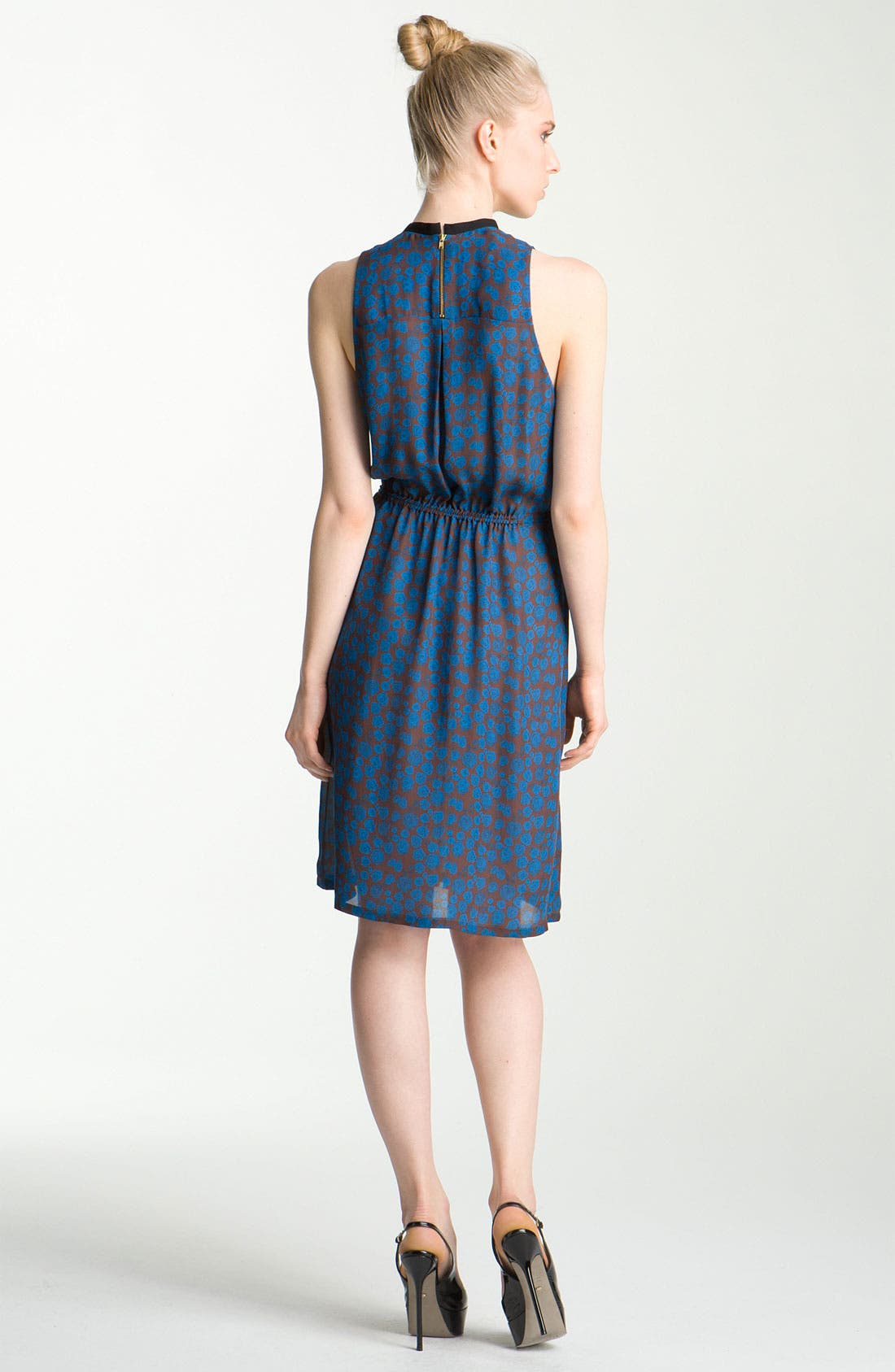 Alternate Image 2  - A.L.C. 'Kenyatta' Cutout Print Silk Dress