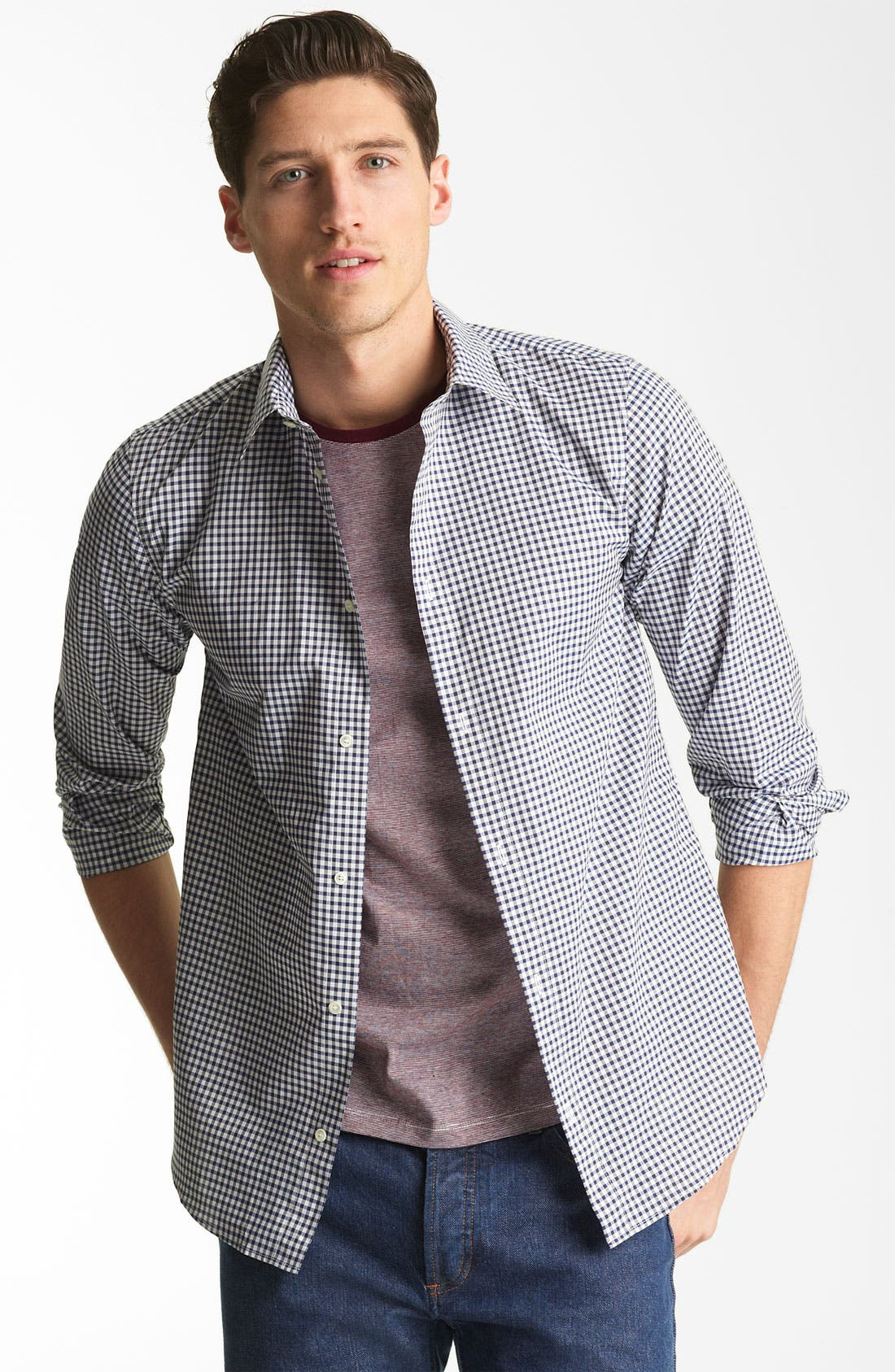 Alternate Image 1 Selected - A.P.C. Gingham Shirt