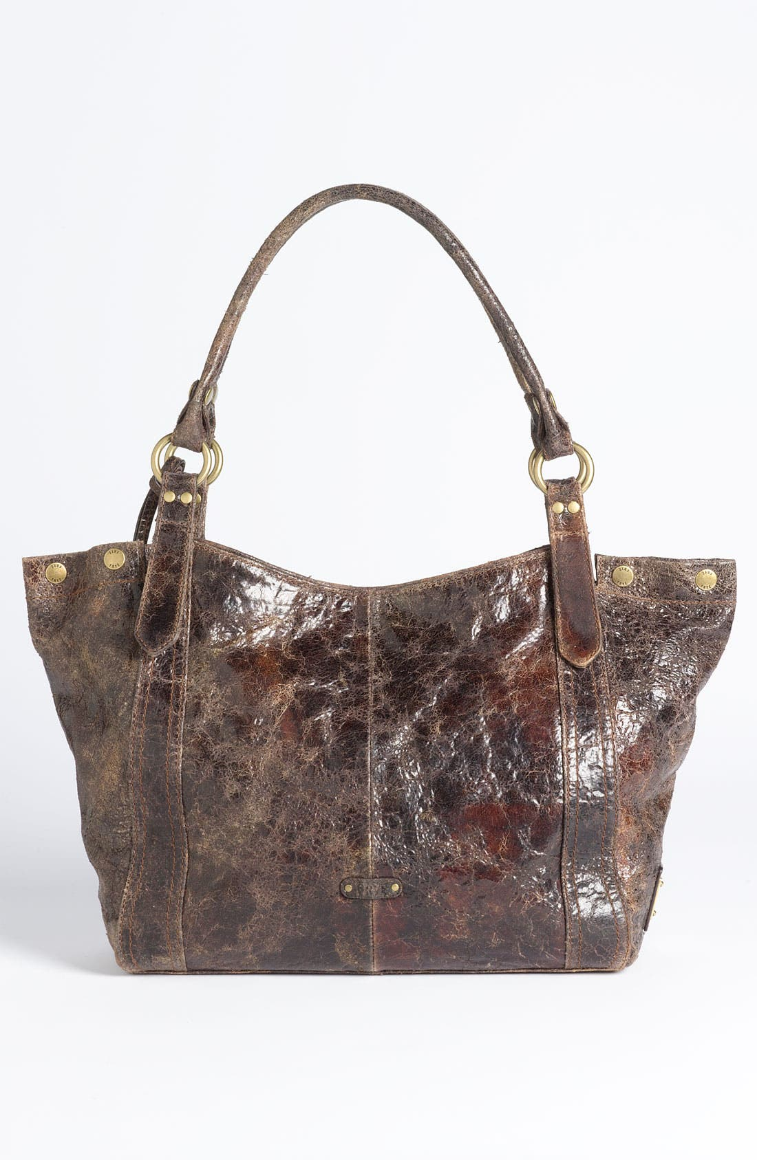 'Deborah' Tote,                             Alternate thumbnail 4, color,                             Chocolate