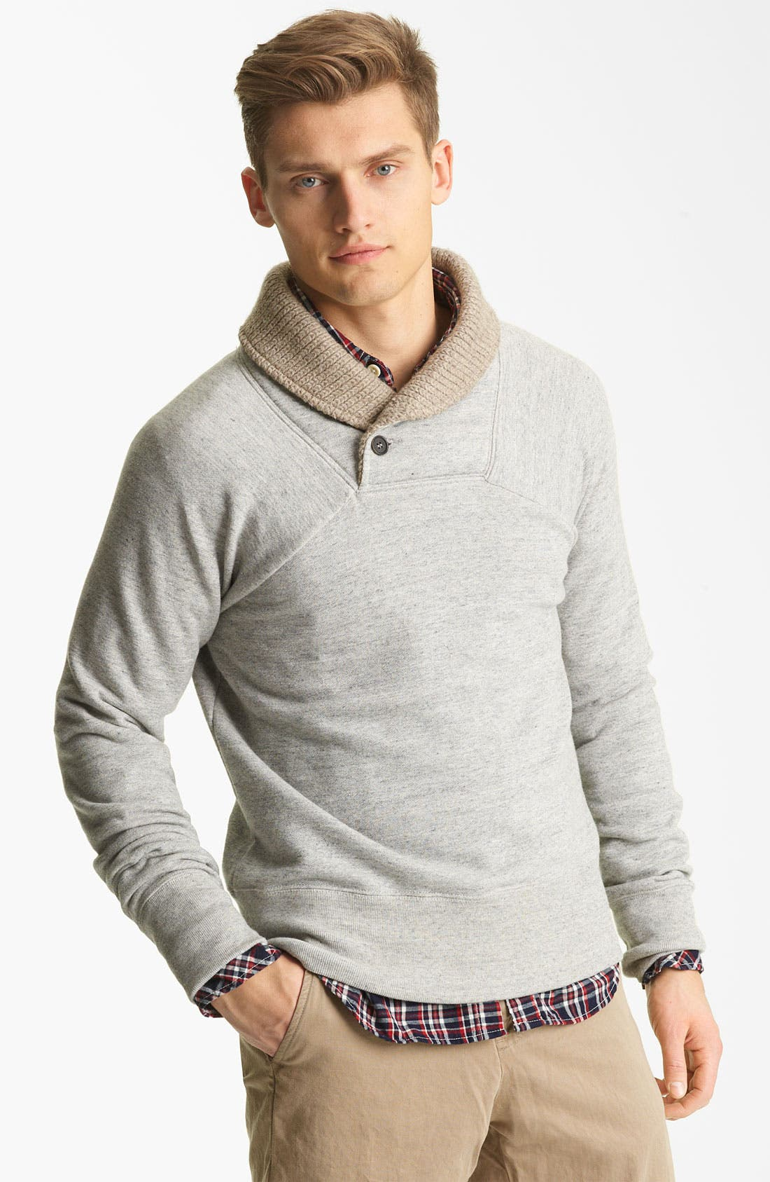 Main Image - Billy Reid 'Jackson' Shawl Collar Sweatshirt