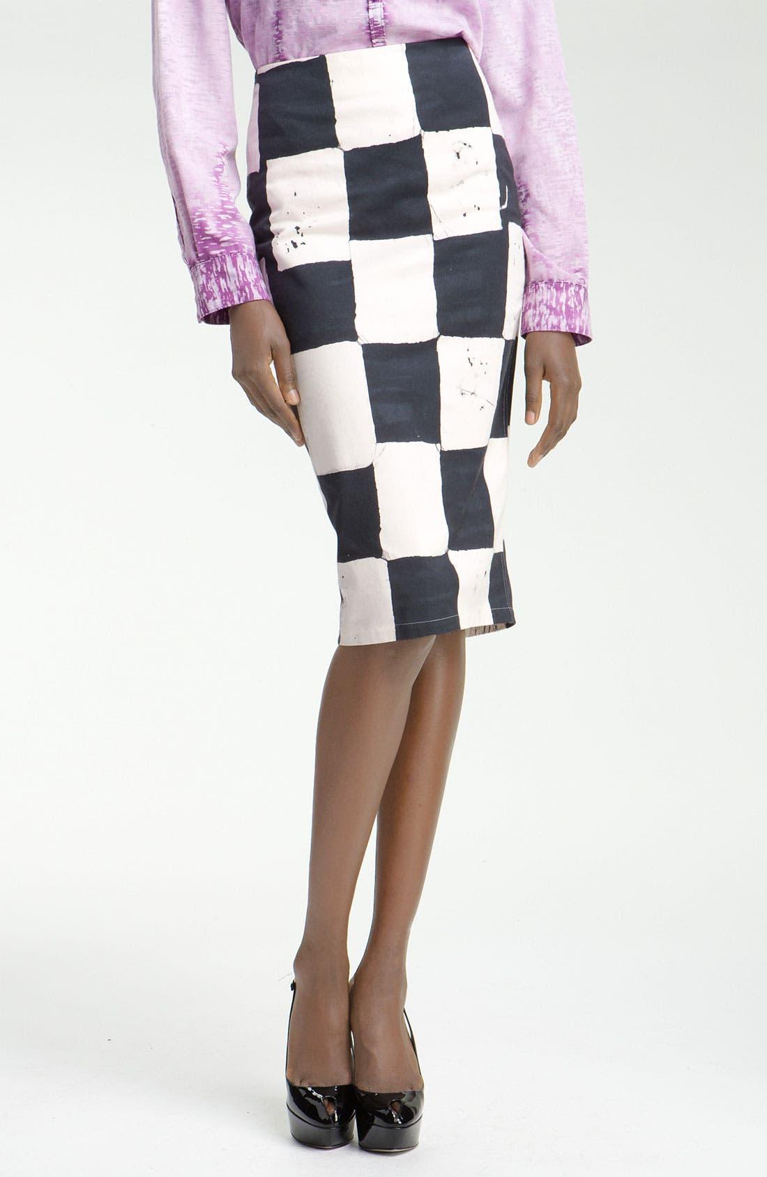 Alternate Image 1 Selected - Kelly Wearstler Cube Batik Print Pencil Skirt