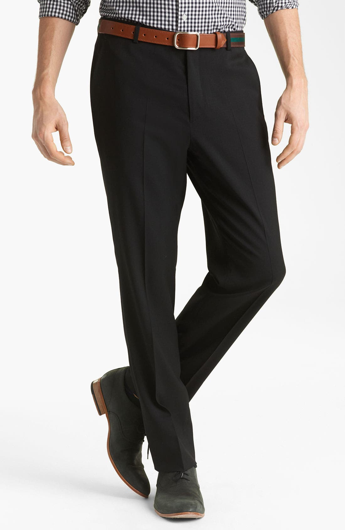 Alternate Image 1 Selected - Shipley & Halmos 'Grand Classic' Wool Trousers