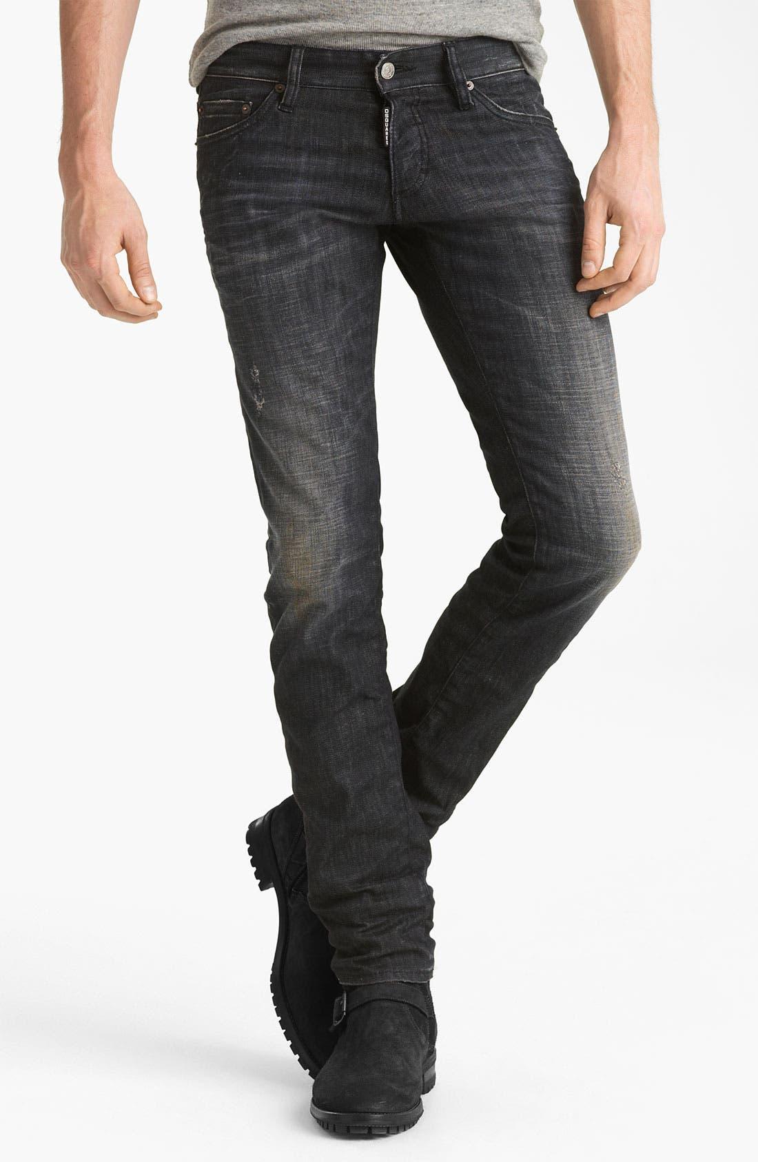Alternate Image 2  - Dsquared2 Slim Fit Jeans (Black Night)