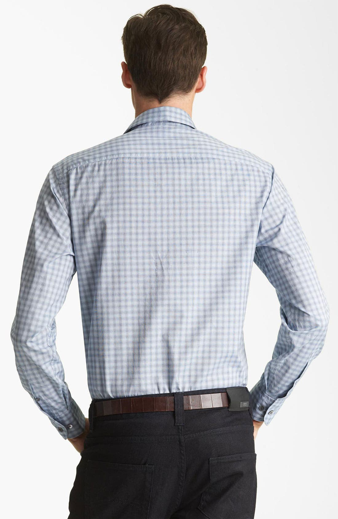 Alternate Image 2  - Armani Collezioni Plaid Woven Shirt