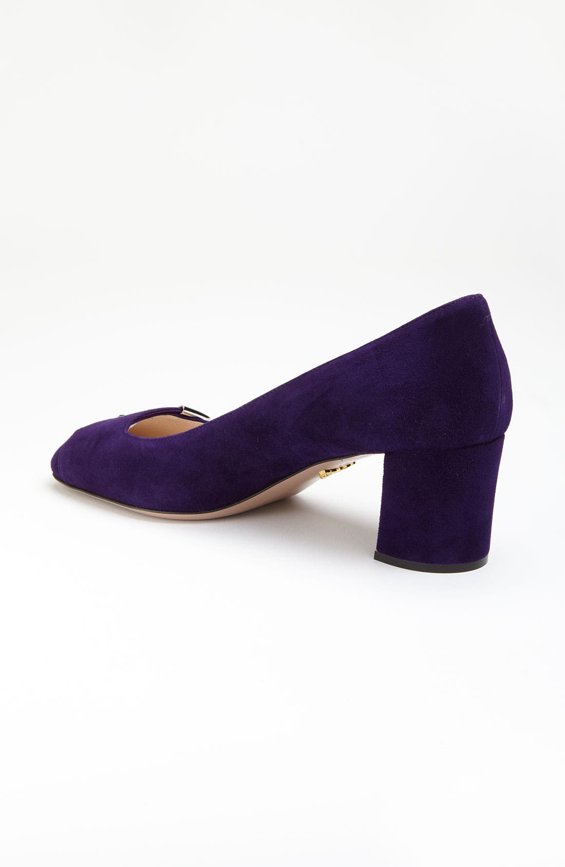 Alternate Image 2  - Prada Buckle Square Heel Pump