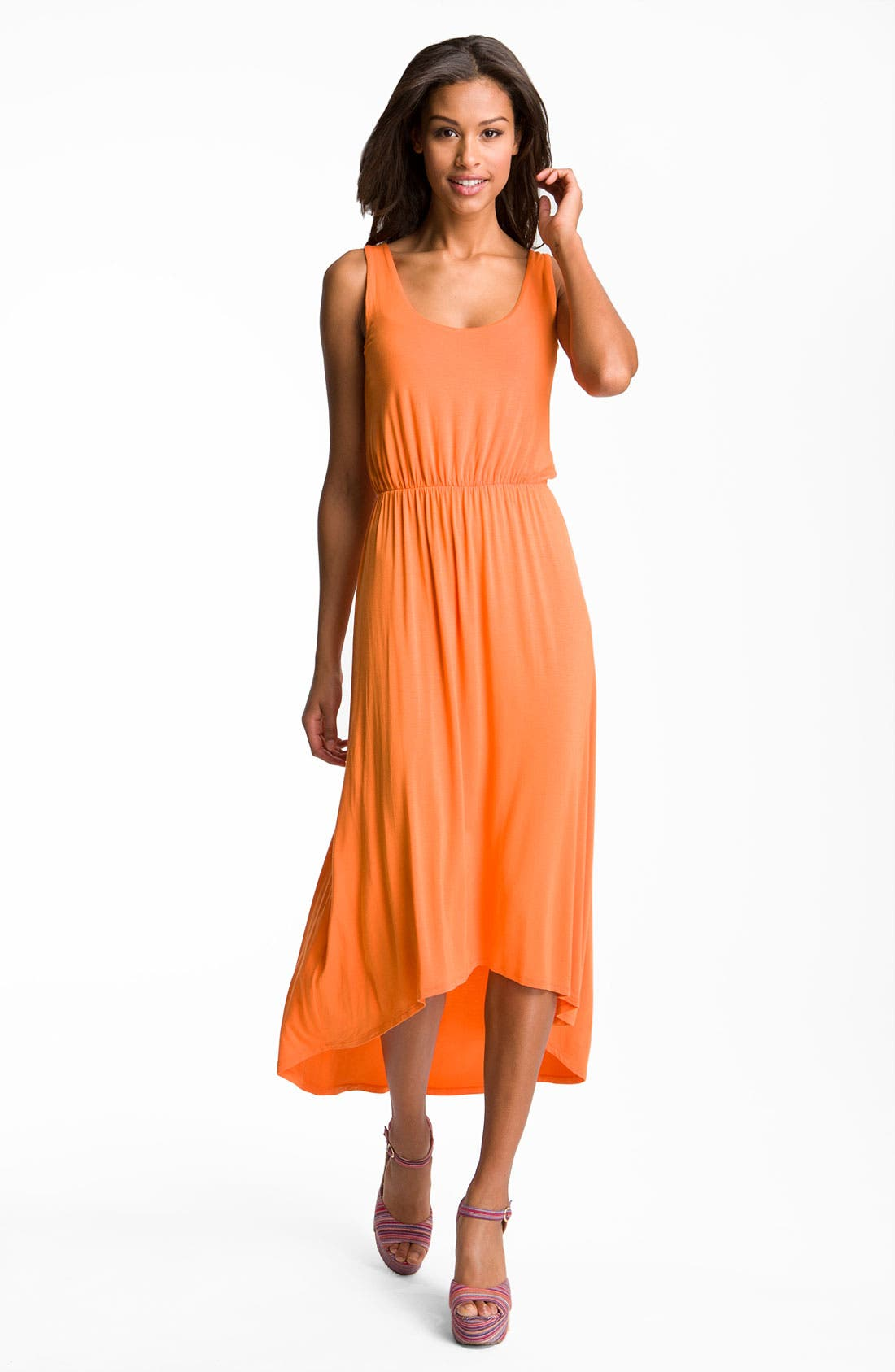 Main Image - Felicity & Coco High/Low Hem Jersey Tank Dress (Nordstrom Exclusive)