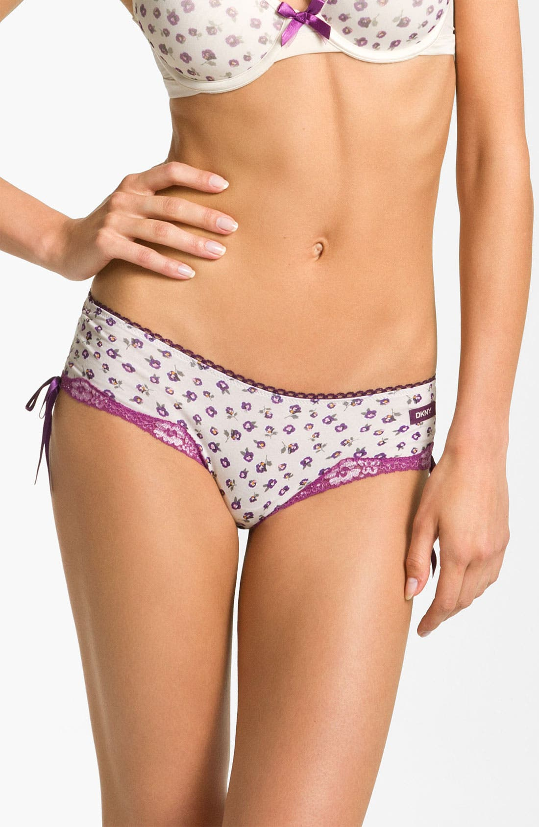 Alternate Image 1 Selected - DKNY 'Cutie' Cotton Bikini (3 for $27)
