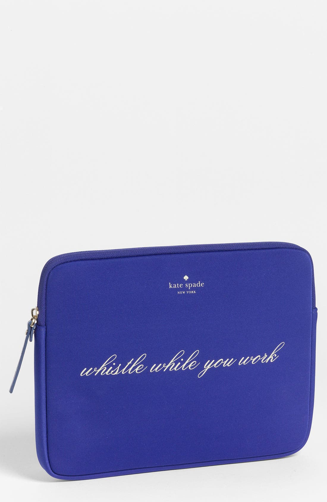 'whistle while you work' iPad sleeve,                         Main,                         color, Cobalt