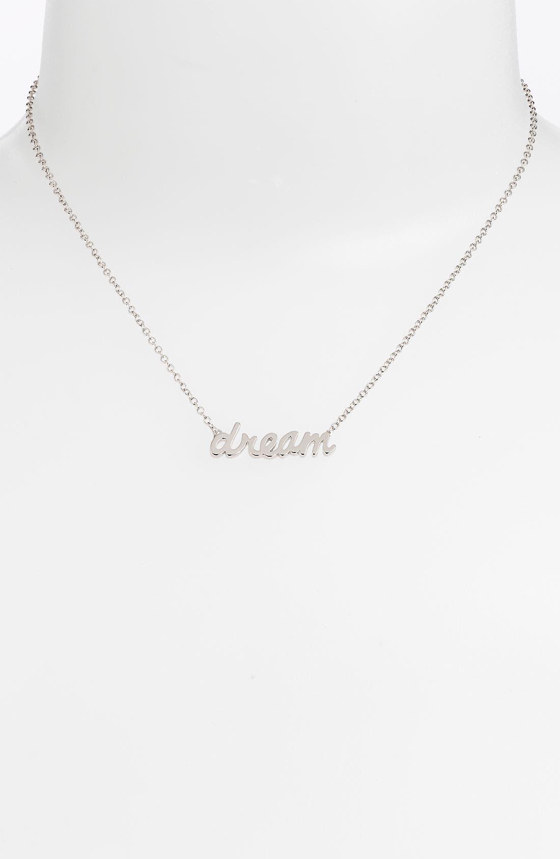 Main Image - Ariella Collection 'Messages - Dream' Script Pendant Necklace (Nordstrom Exclusive)