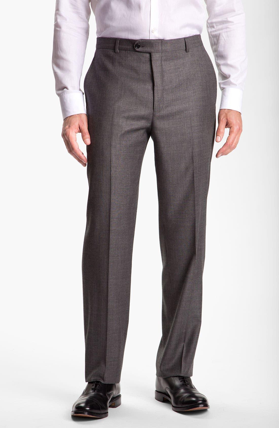 Alternate Image 4  - Hickey Freeman Solid Wool Suit