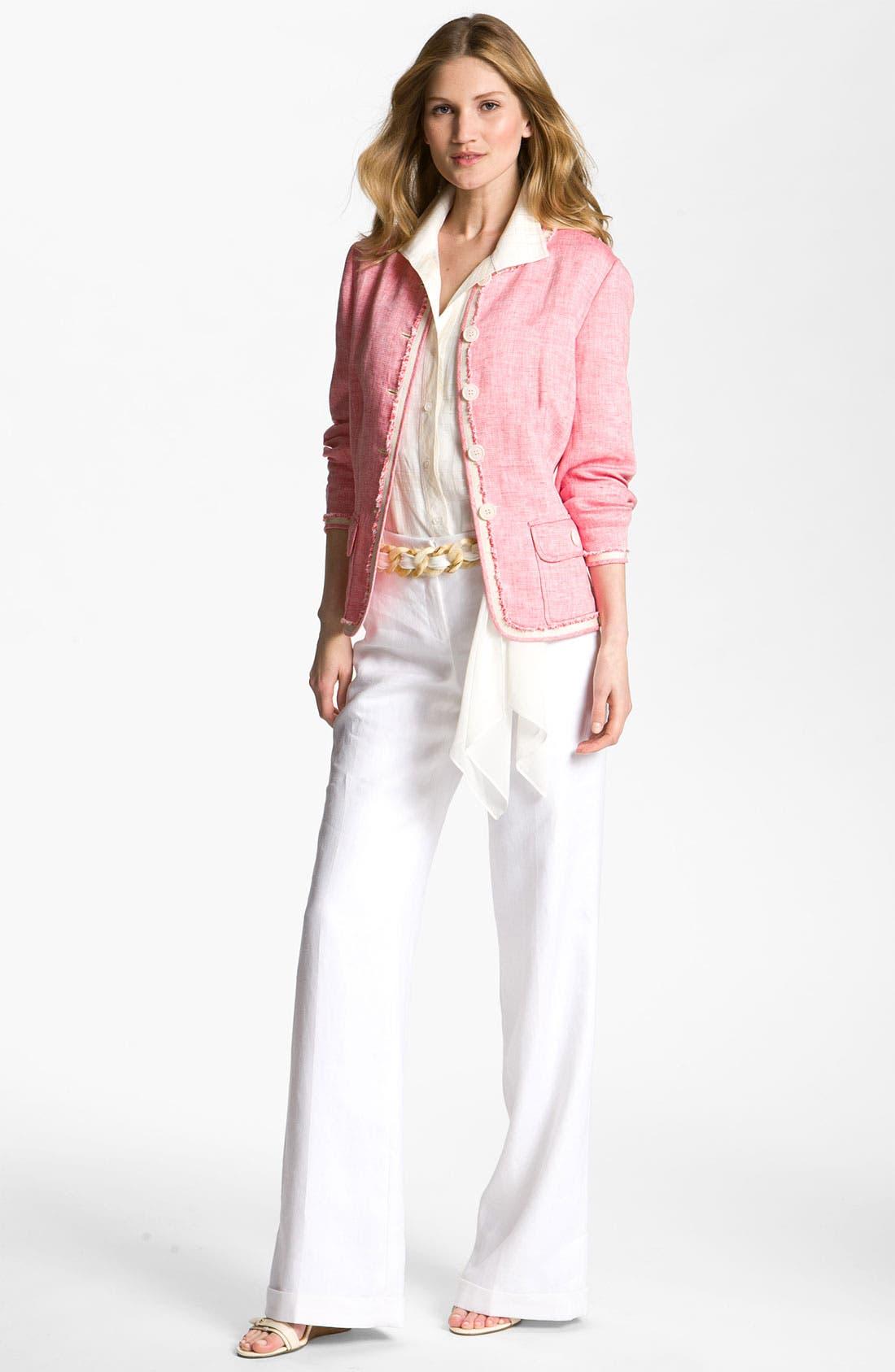 Alternate Image 4  - Lafayette 148 New York 'Lavish' Cuff Linen Pants
