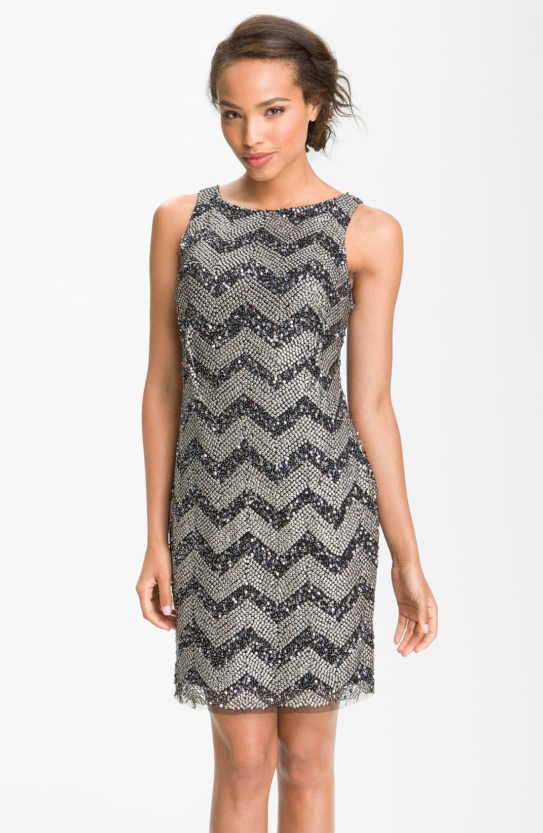 Main Image - Guilia Sequin Chevron Shift Dress
