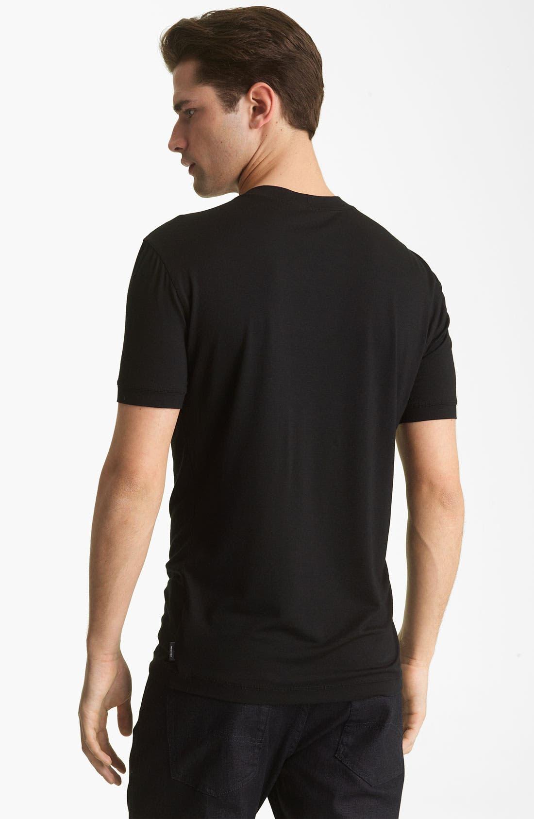 Alternate Image 2  - Armani Collezioni Jersey Trim Fit T-Shirt
